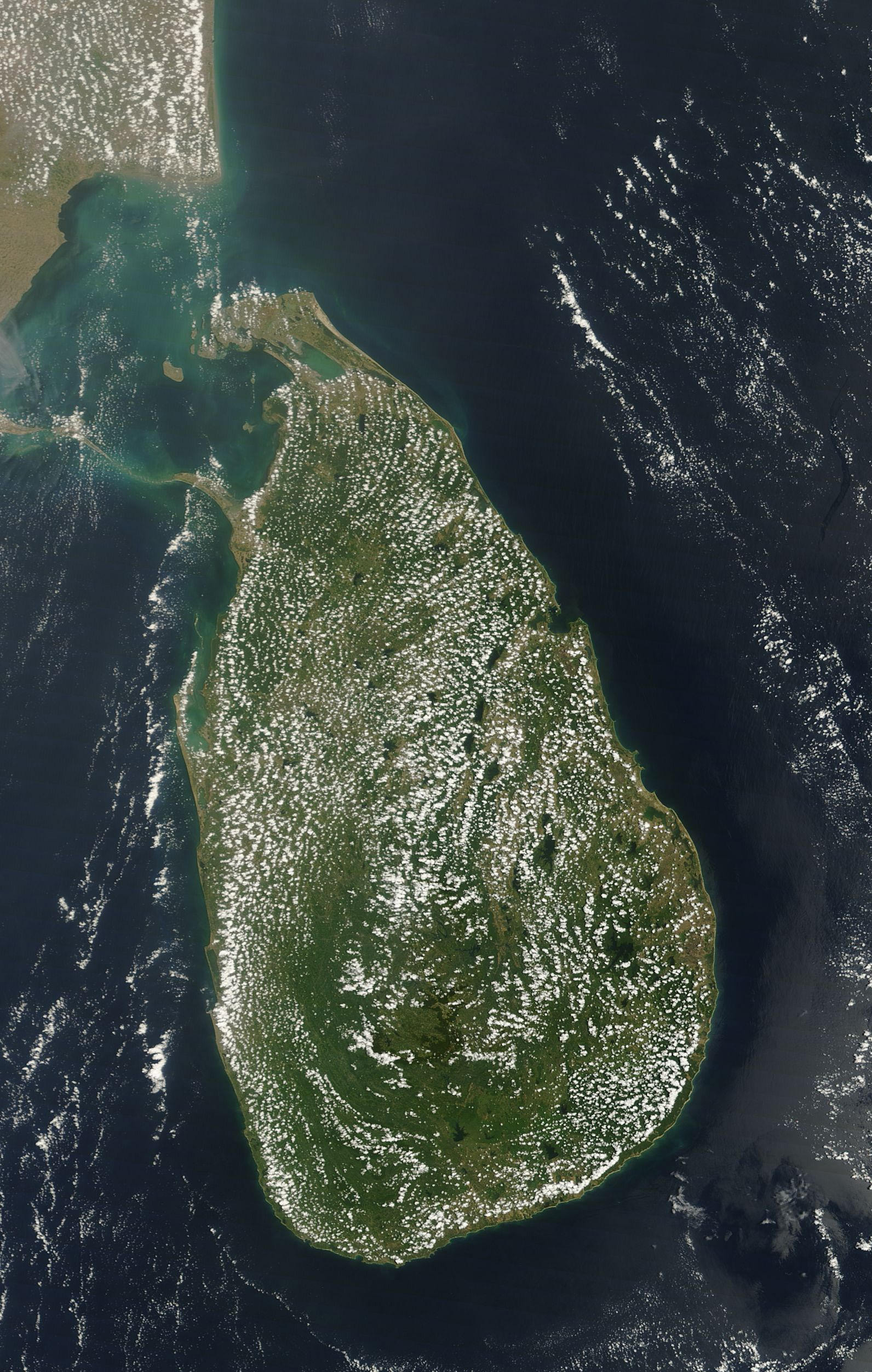 Today's Image of the Day comes thanks to the NASA Earth Observatory and features a look at fair-weather cumulus clouds over Sri Lanka.