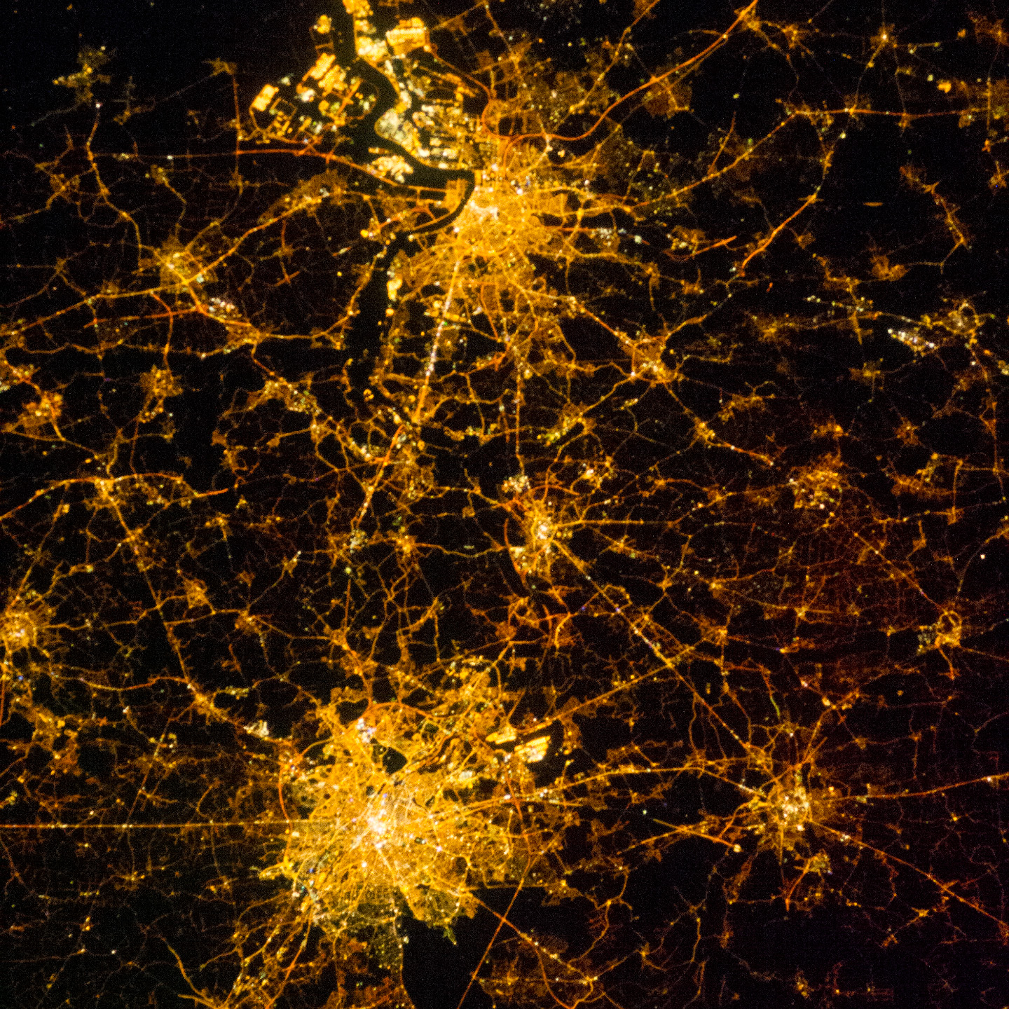Today's Image of the Day comes thanks to the NASA Earth Observatory and features a look at Brussels and Antwerp, Belgium at night.