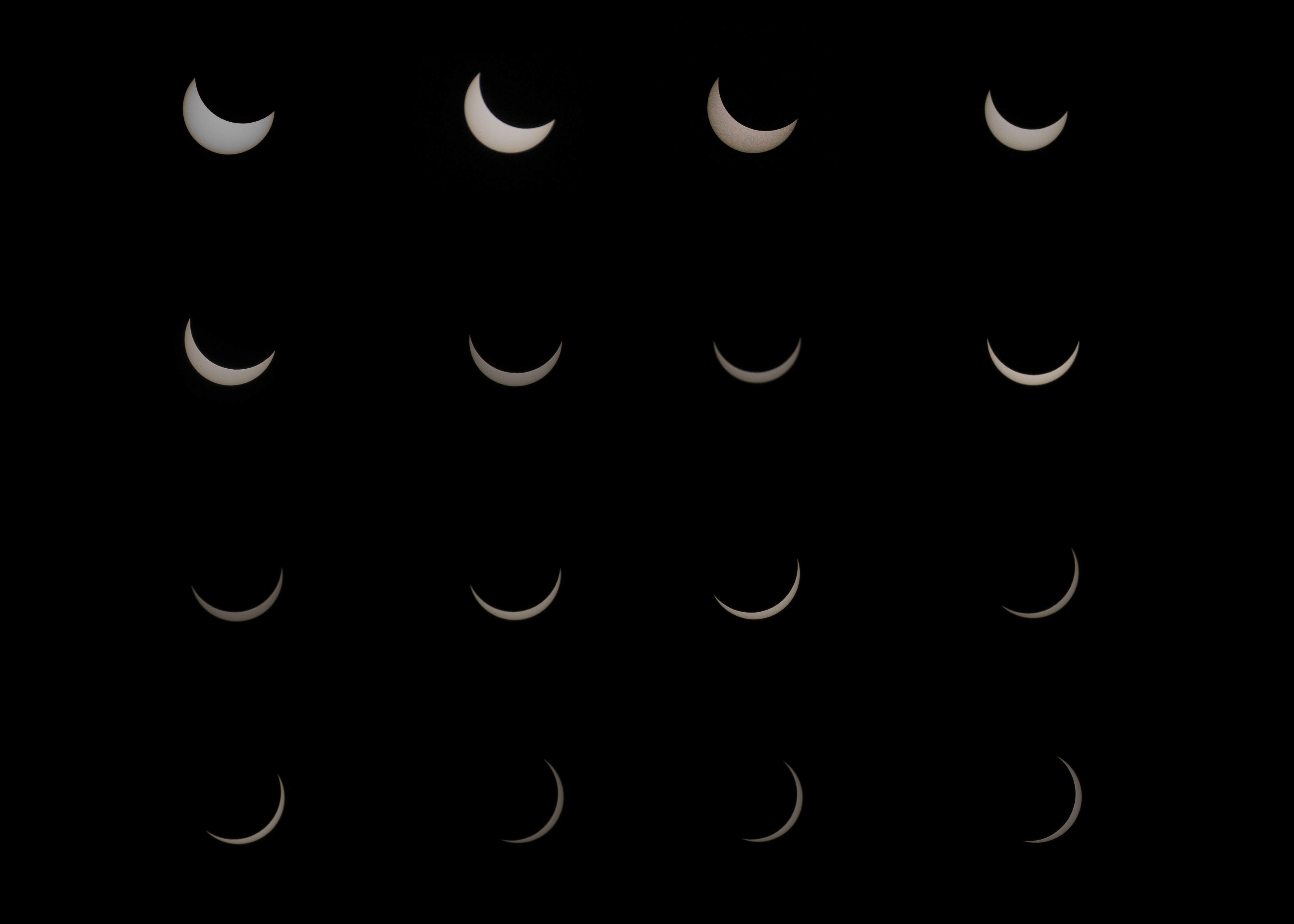 Today's Image of the Day comes thanks to Lee Rannals, who captured these hi-res images of each phase of the Great American Total Solar Eclipse.