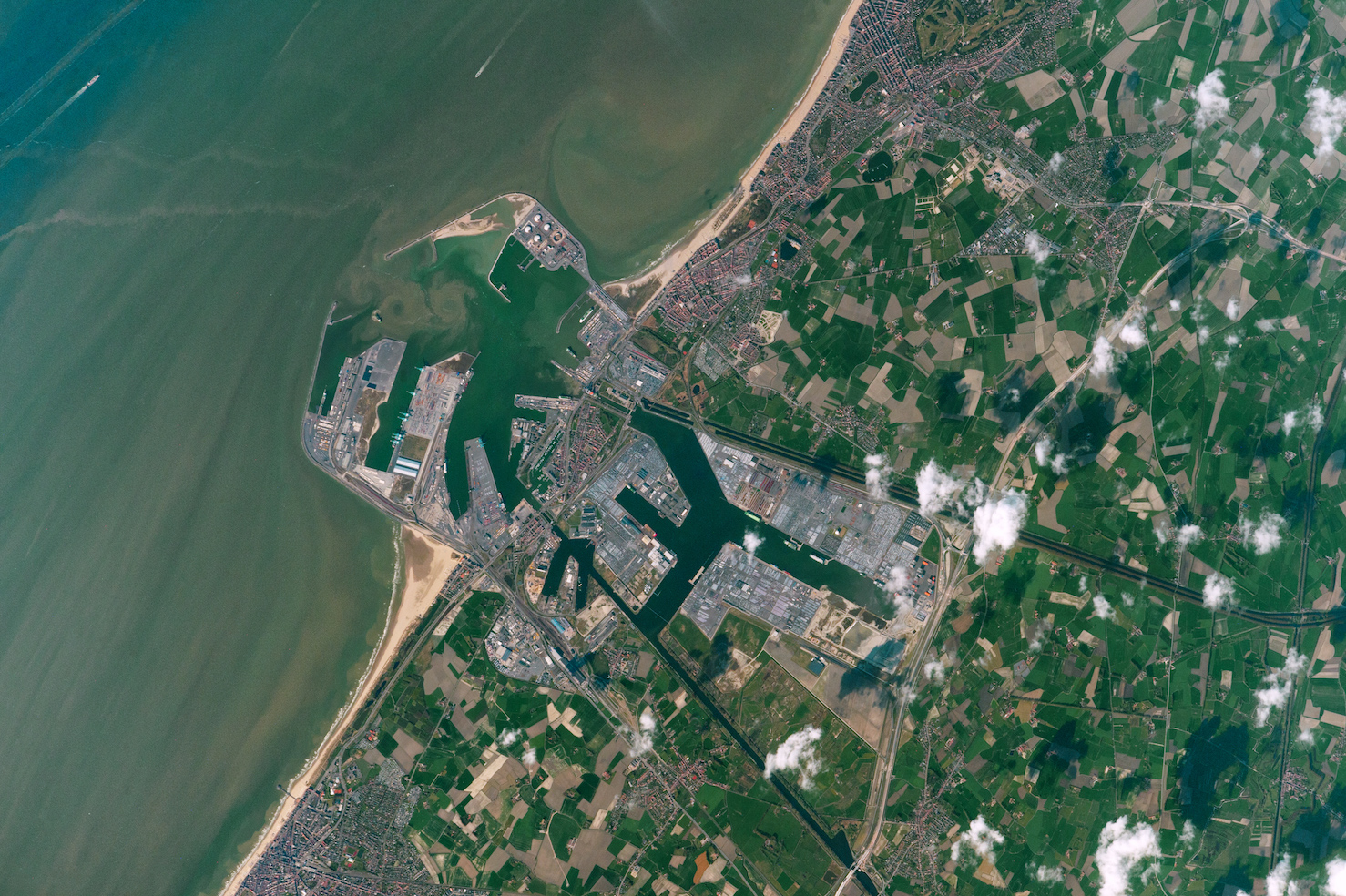 Today's Image of the Day comes thanks to the NASA Earth Observatory and features a look at the city of Zeebrugge, Belgium.