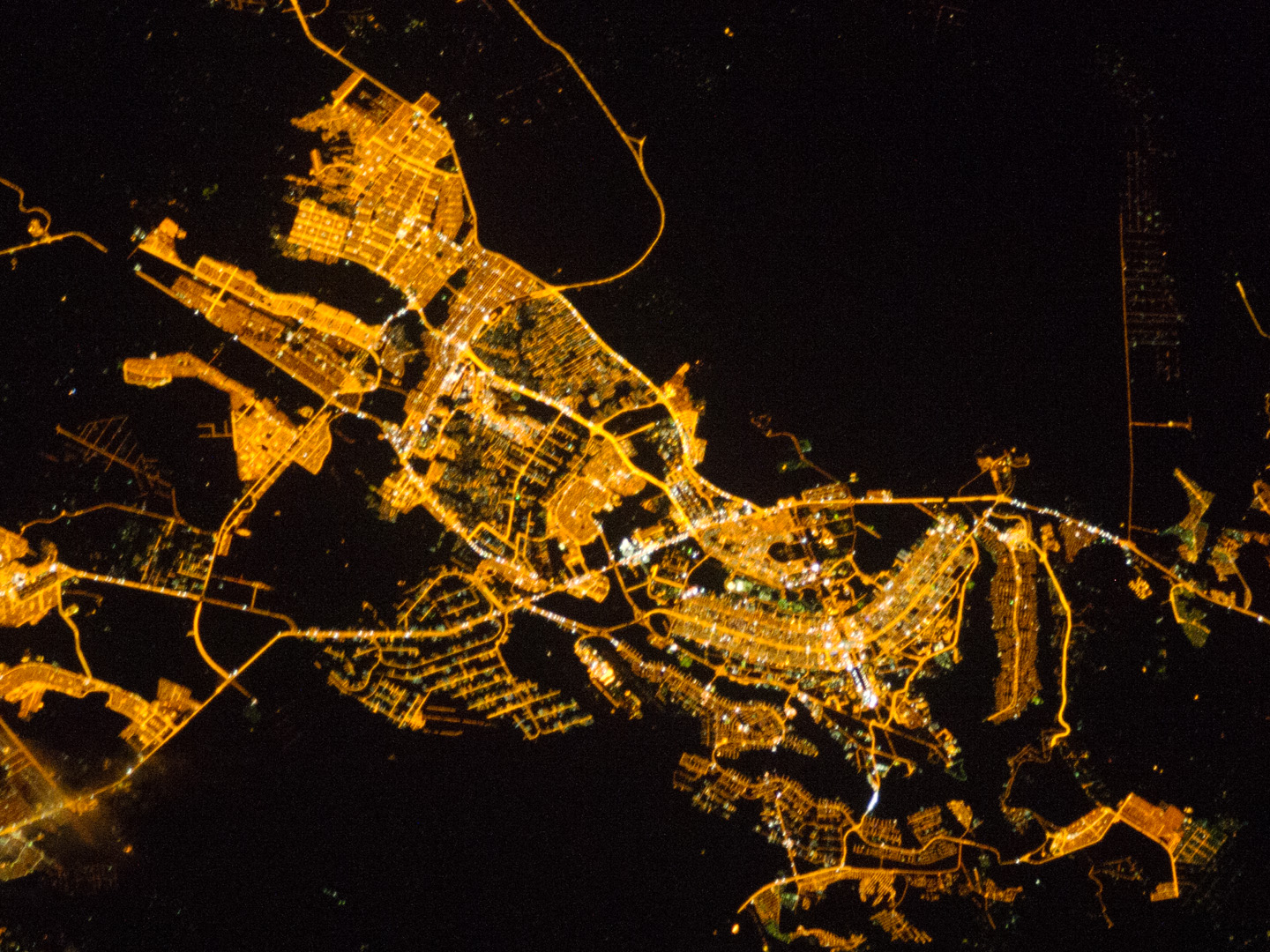 Today's Image of the Day comes thanks to the NASA Earth Observatory and features a look at the city of Brasília, Brazil at night.