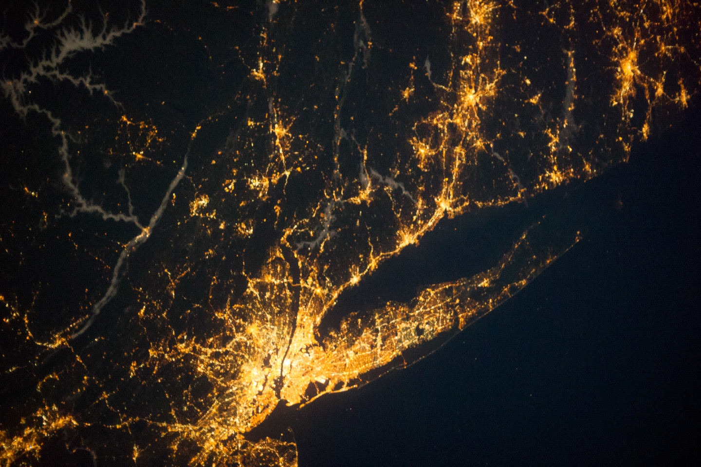 Today's Image of the Day comes thanks to the NASA Earth Observatory and features a look at New York City and Long Island Sound at night.