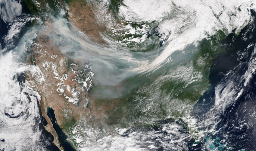 Today's Image of the Day features a look at wildfires in the Pacific northwest pushing smoke across the continental United States.