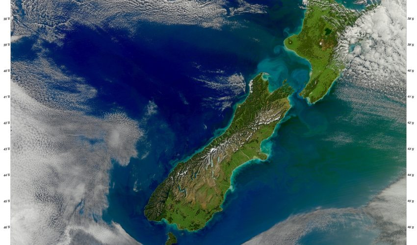 Today's Image of the Day comes thanks to the NASA Earth Observatory and features a look at the North and South Islands of New Zealand.