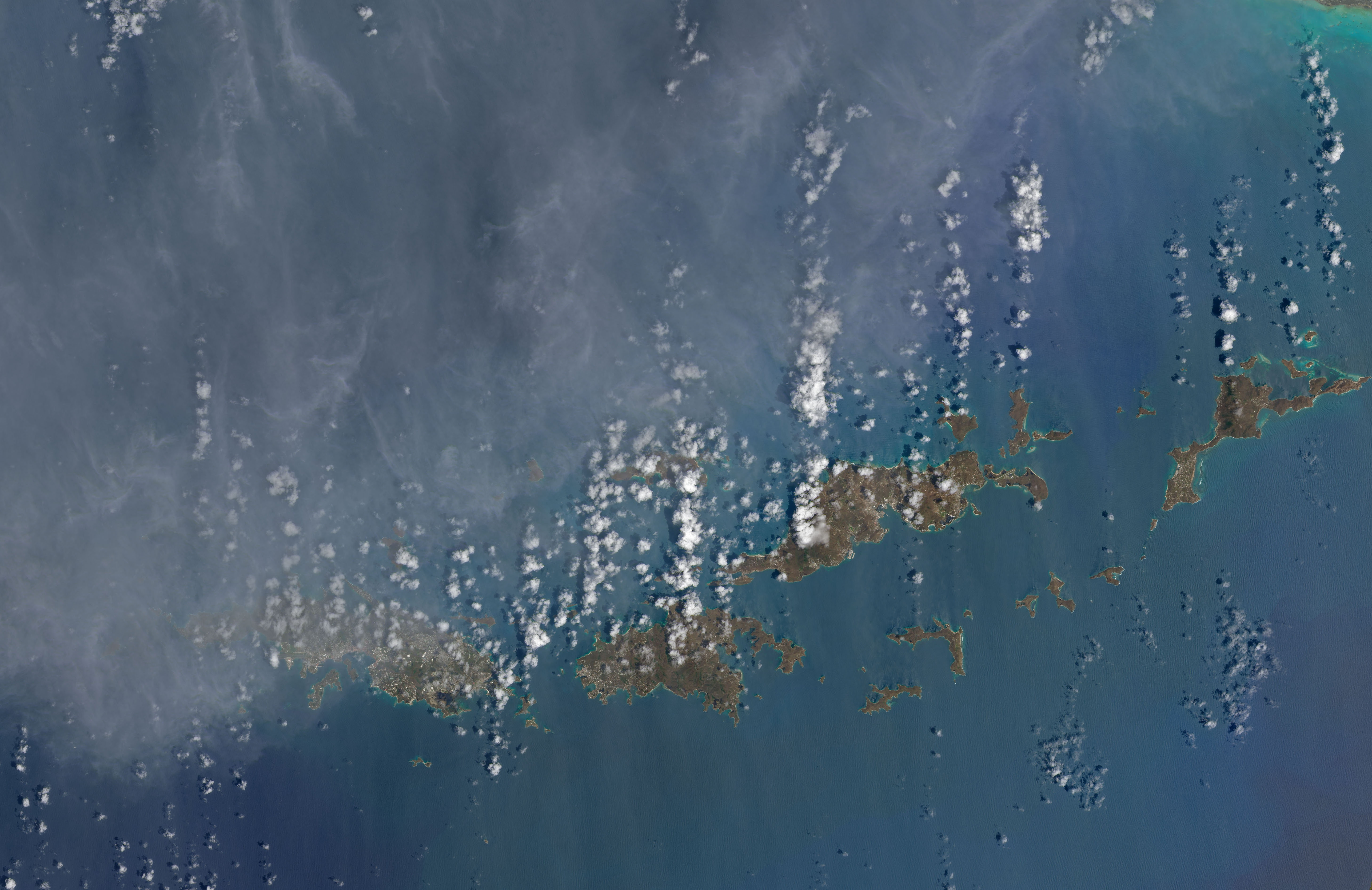 Today's Image of the Day comes thanks to the NASA Earth Observatory and features a look at how Hurricane Irma turned the Virgin Islands brown.