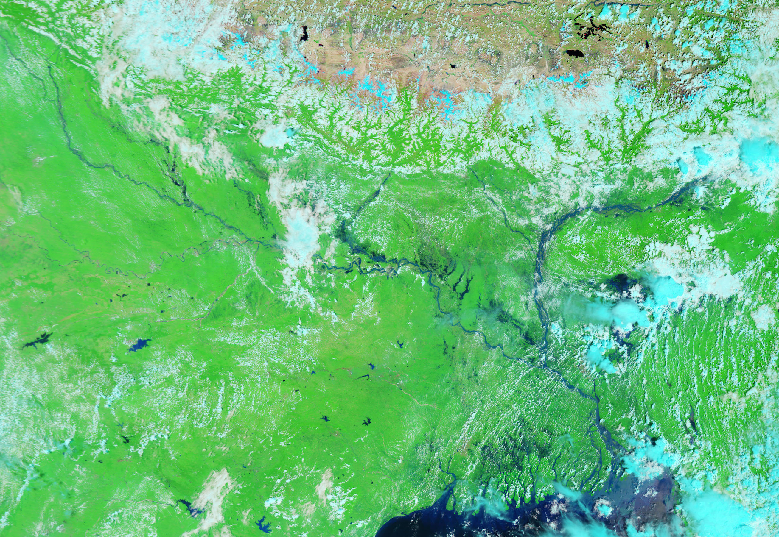 Today's Image of the Day comes thanks to the NASA Earth Observatory and features a look at severe flooding in south Asia.