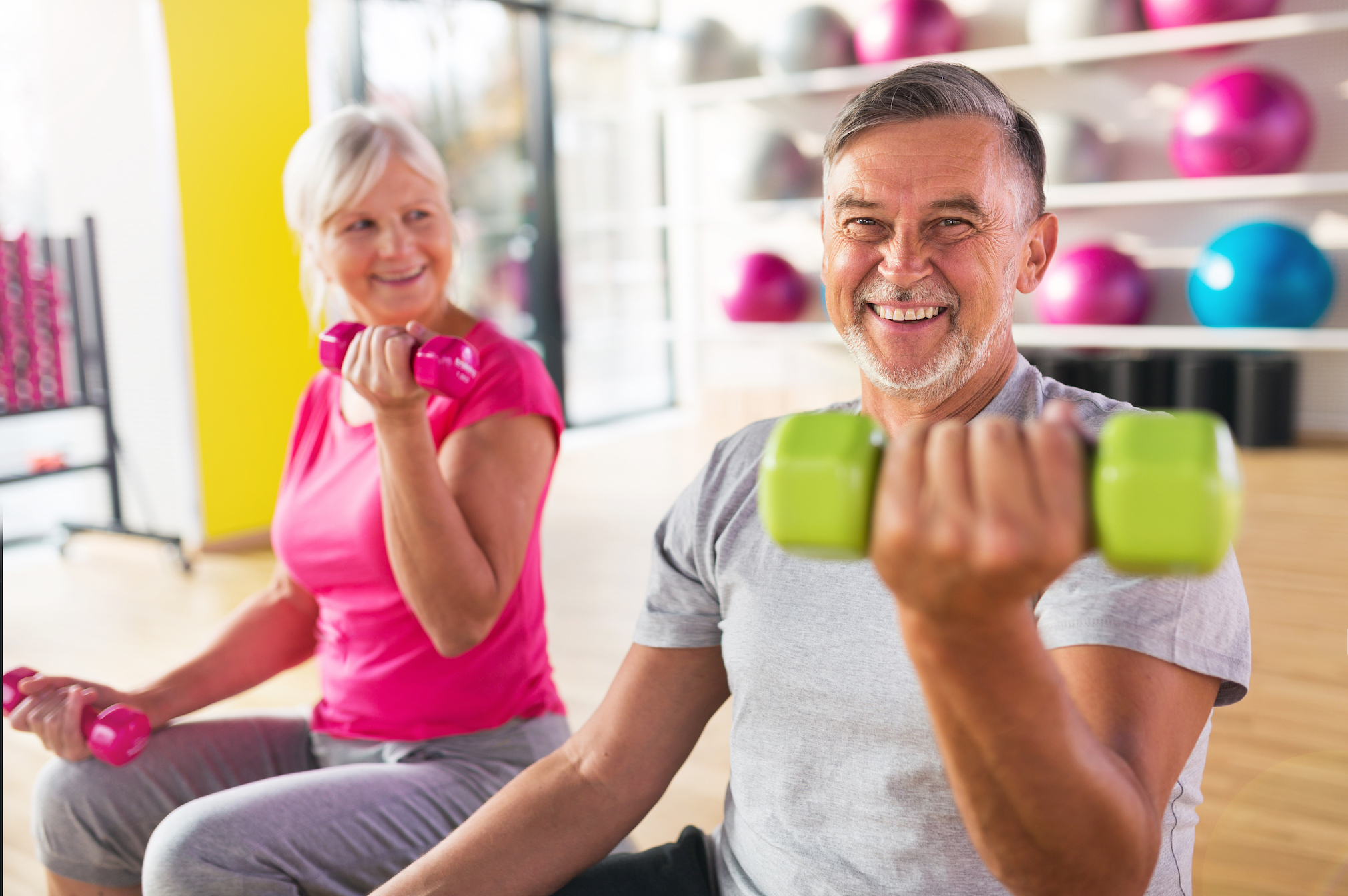 Prolonged physical activity beginning in mid-life can help keep a person physically fit and active in their old age.