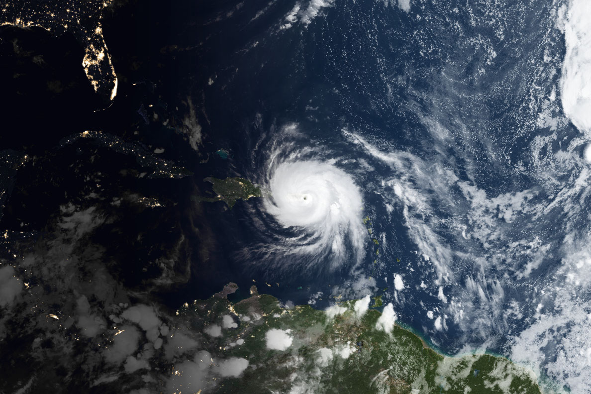 Today's Image of the Day comes courtesy of the NASA Earth Observatory and features a look at Hurricane Maria over Puerto Rico.
