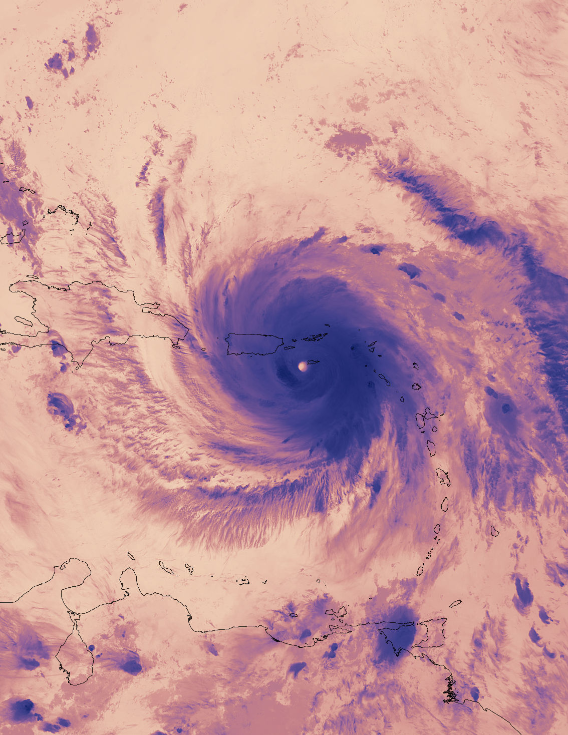 Today's Image of the Day comes courtesy of NASA and features a look at a thermal image of Hurricane Maria from the Suomi NPP satellite.