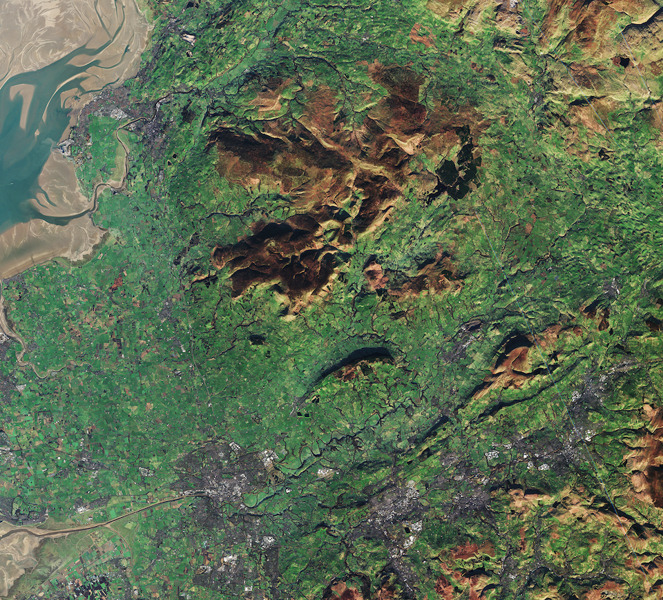 Today's Image of the Day comes thanks to the European Space Agency (ESA) and features an overhead view of northwest England.