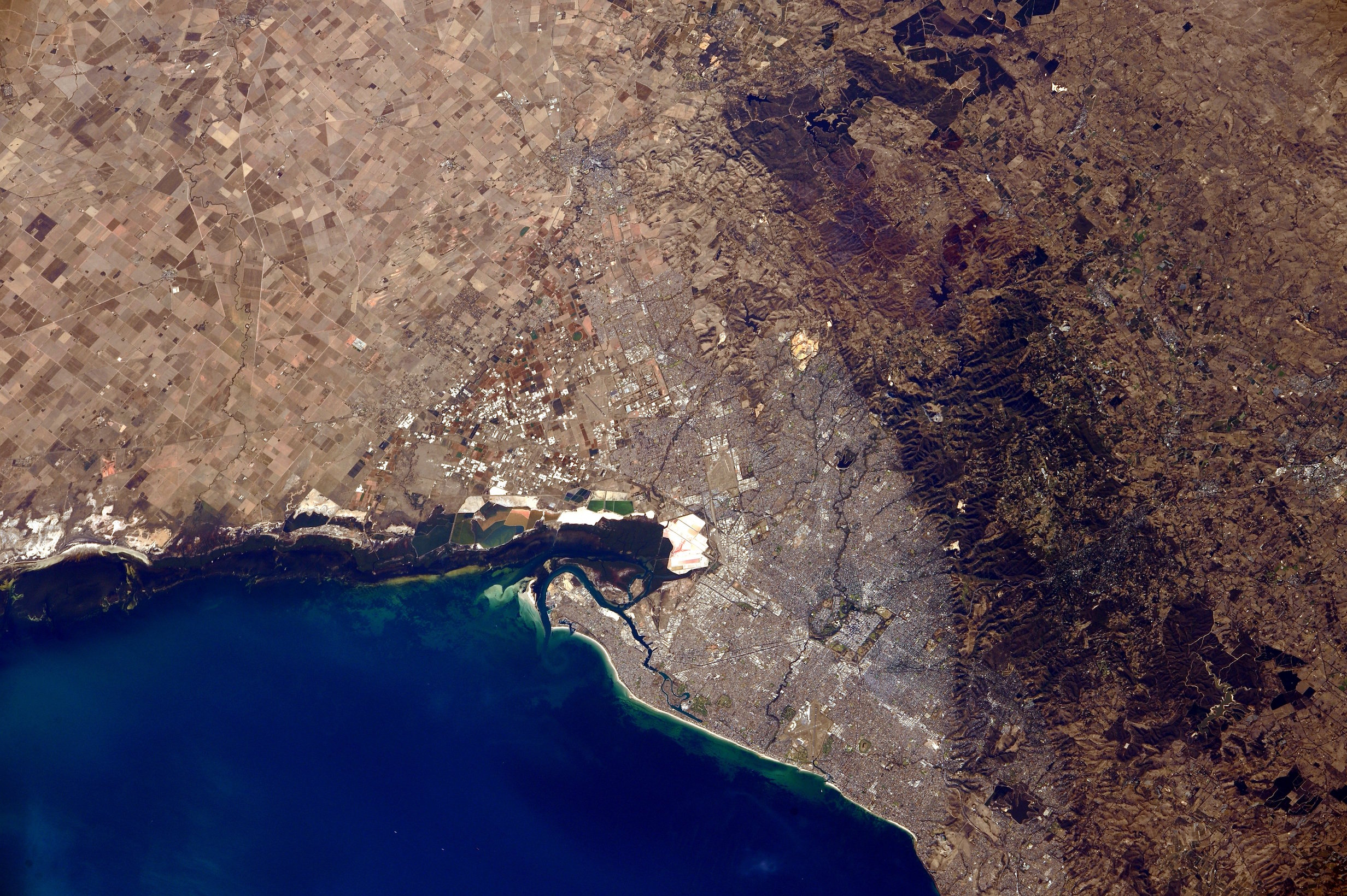 Today's Image of the Day comes thanks to the NASA Earth Observatory and features a look at Adelaide, Australia from the International Space Station.