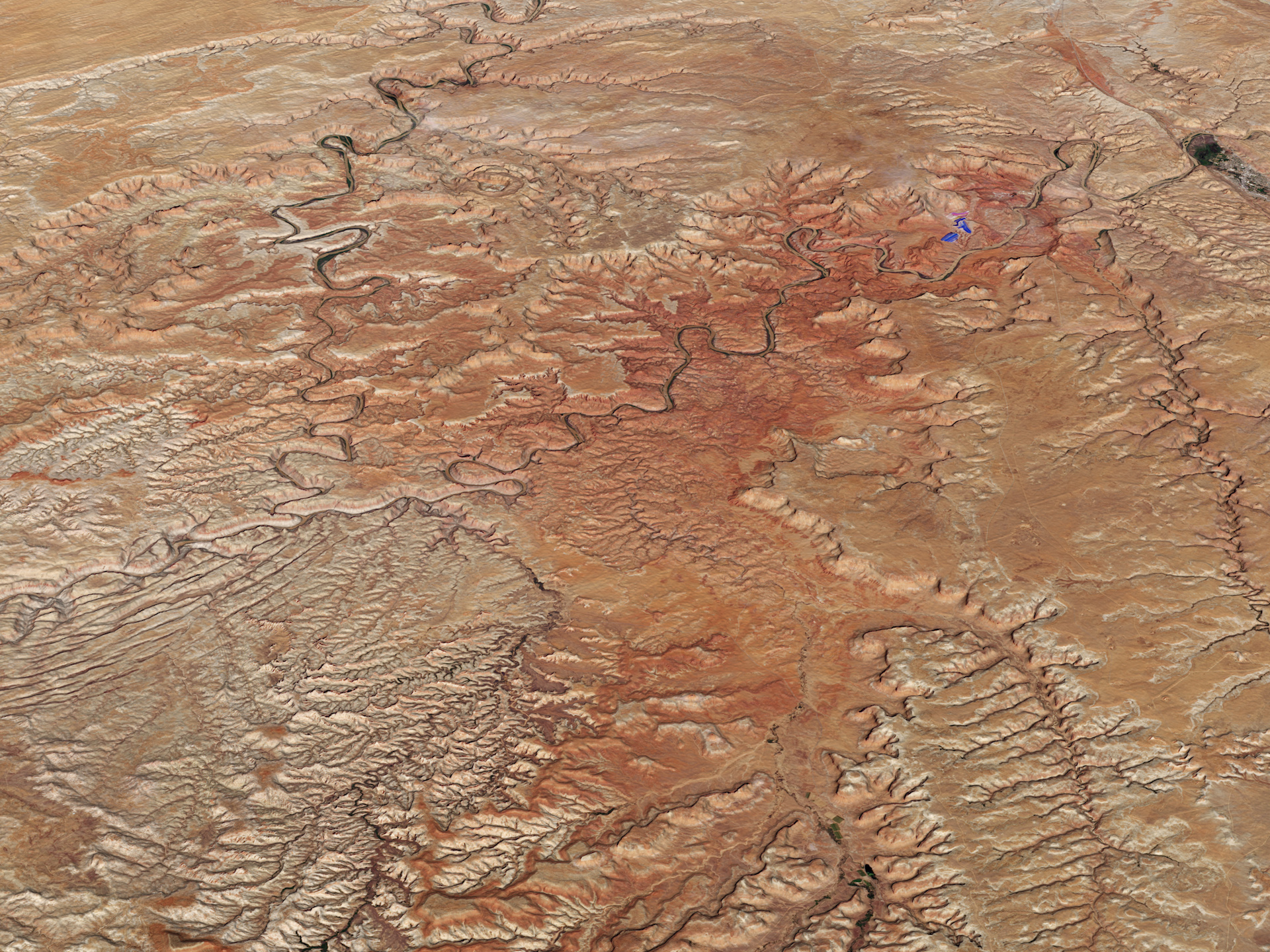 Today's Image of the Day comes thanks to the NASA Earth Observatory and features a look at Canyonlands National Park in southeastern Utah.