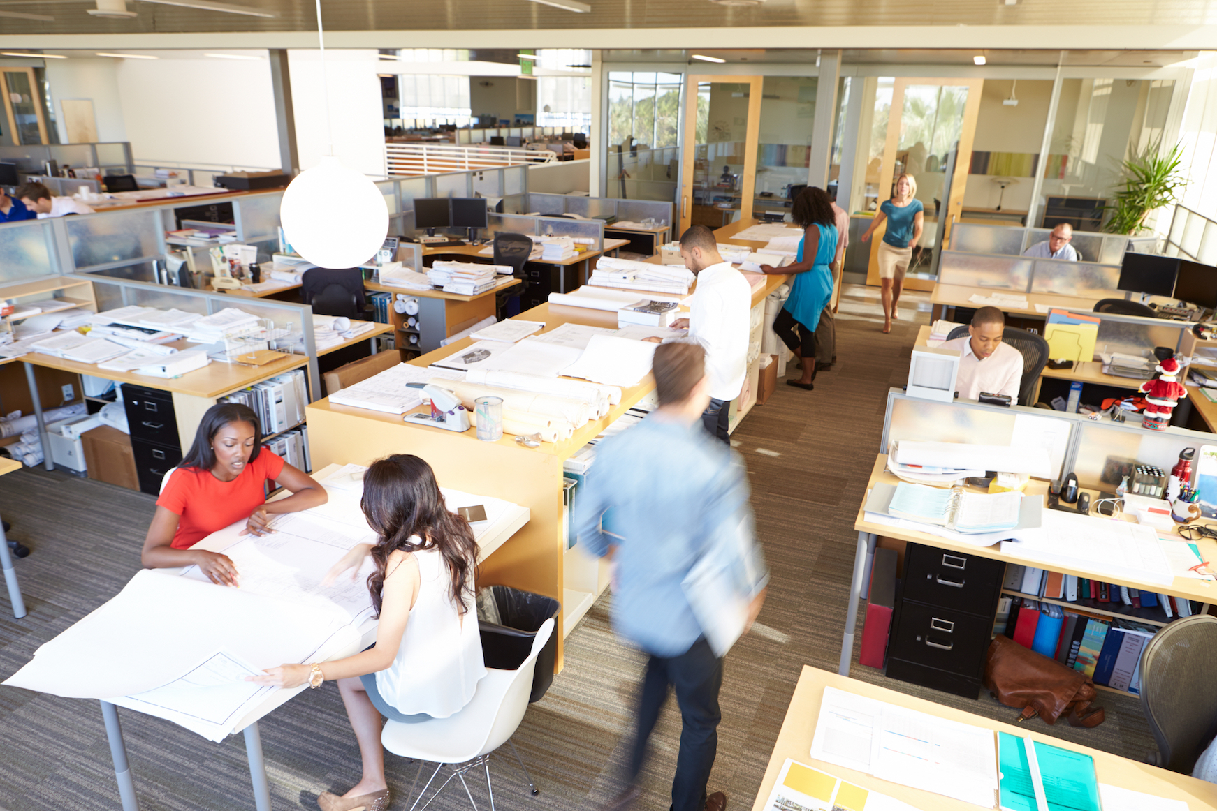 According to a new report, the trendy open office plan actually leads to an increase in distractions and a decrease in efficiency.