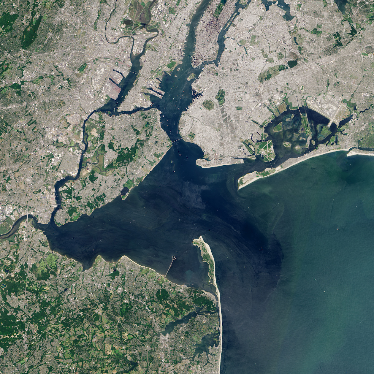 Today's Image of the Day comes thanks to the NASA Earth Observatory and features a look at Jamaica Bay in New York City, New York.
