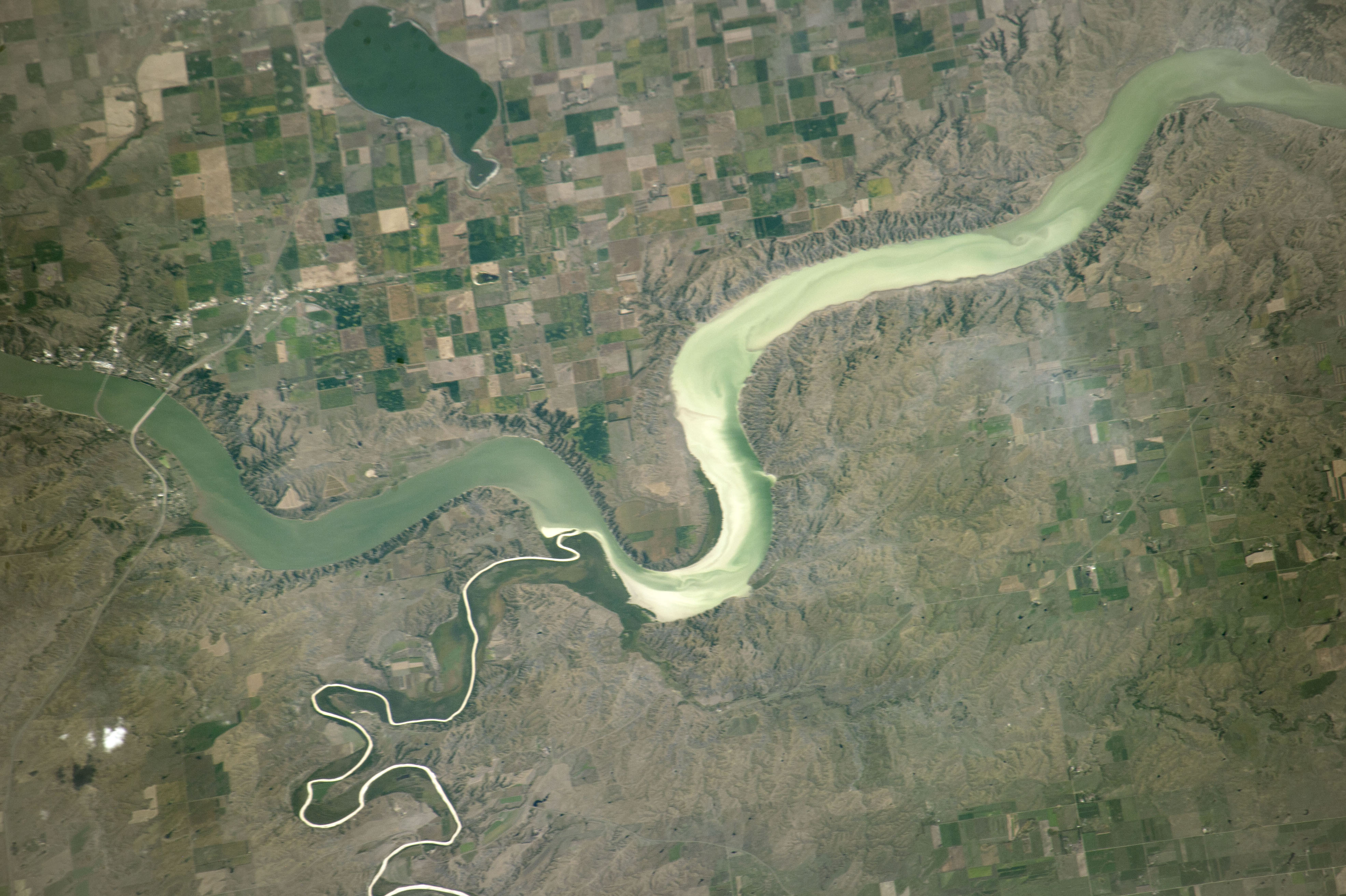 Today's Image of the Day comes from the NASA Earth Observatory and features a look the White River in South Dakota from the International Space Station.