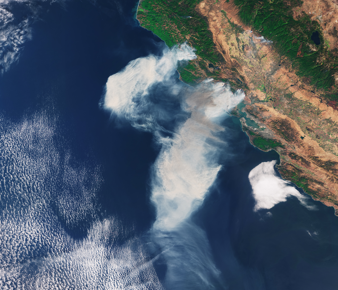 Today's Image of the Day features a look at smoke from the northern California wildfires that have been ravaging wine country.
