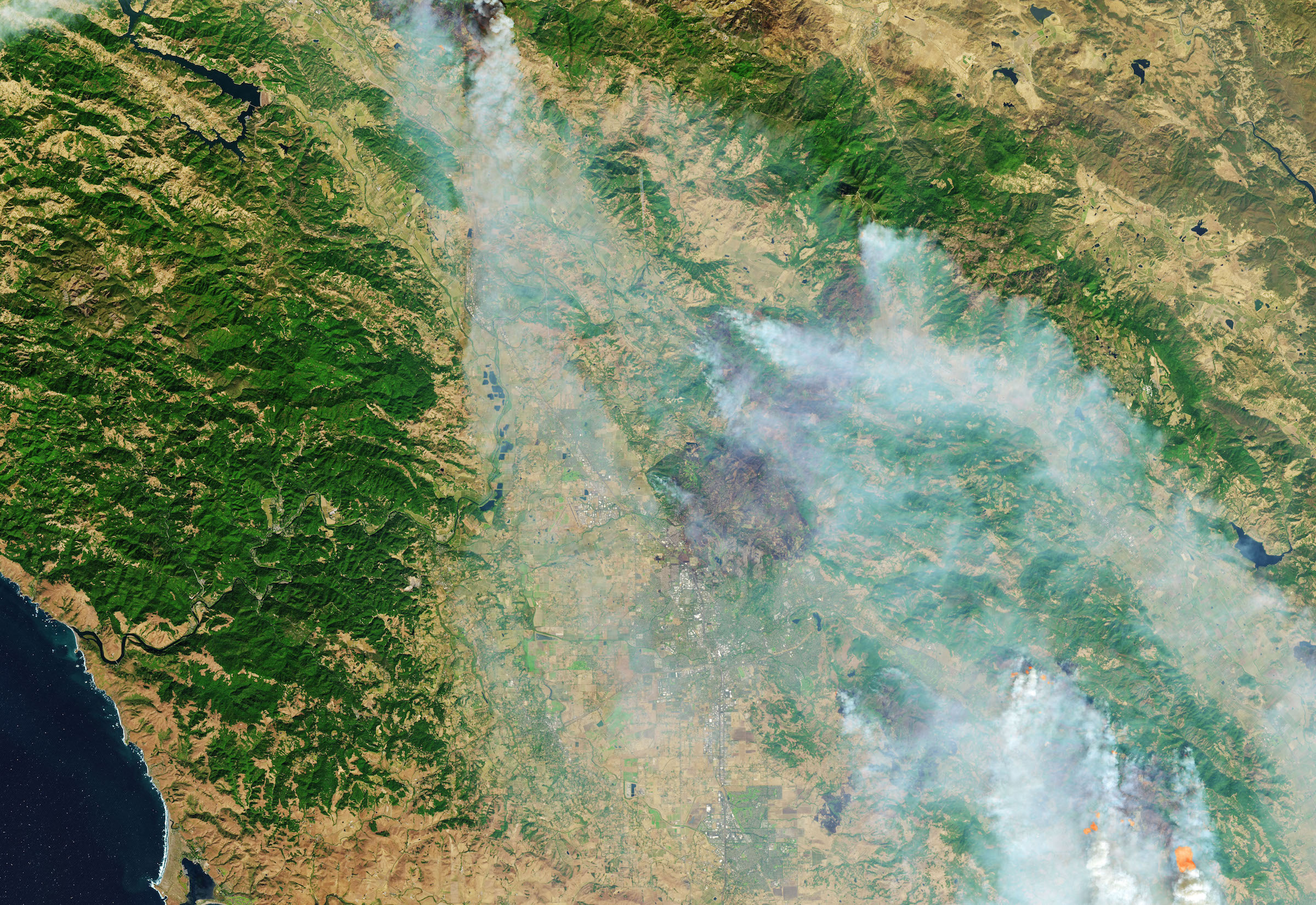 Today's Image of the Day comes from the NASA Earth Observatory and features a look at the aftermath of wildfires in Santa Rosa, California.