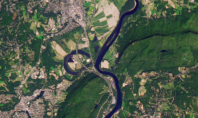 Today's Image of the Day comes thanks to the NASA Earth Observatory and features a look at the oxbow on the Connecticut River in Massachusetts.