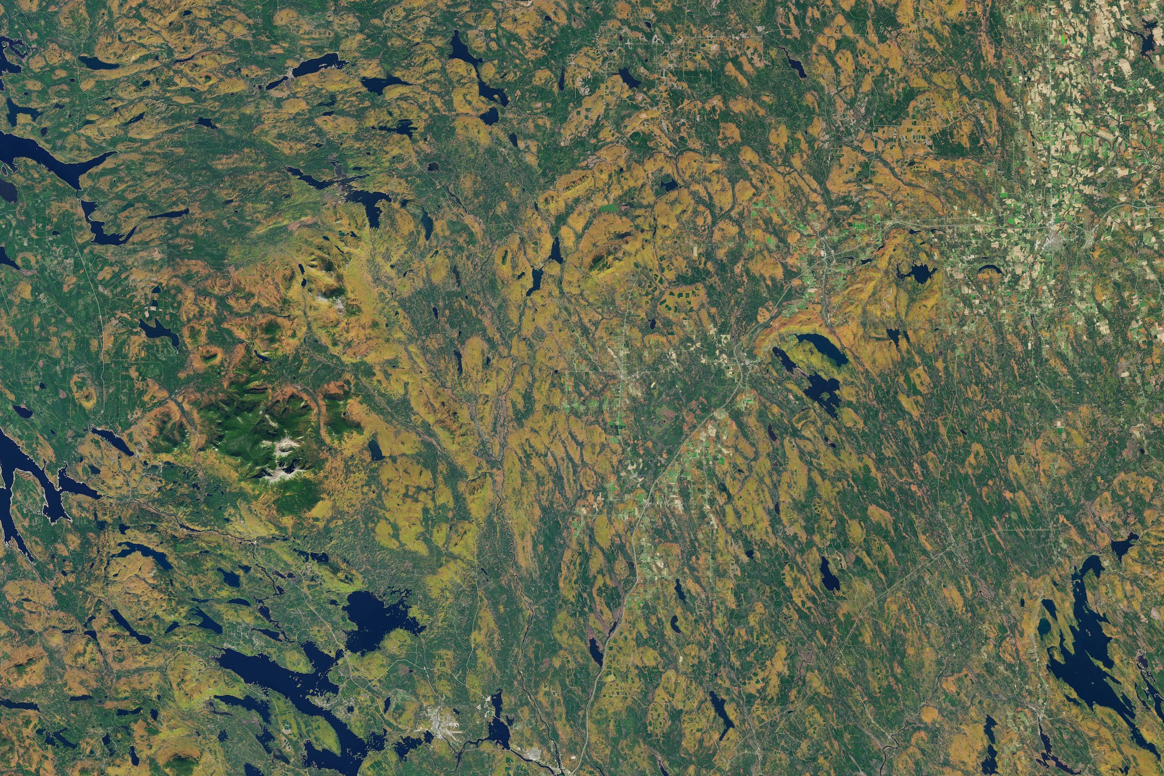 Today's Image of the Day comes thanks to the NASA Earth Observatory and features a look at some beautiful autumn foliage in Maine.