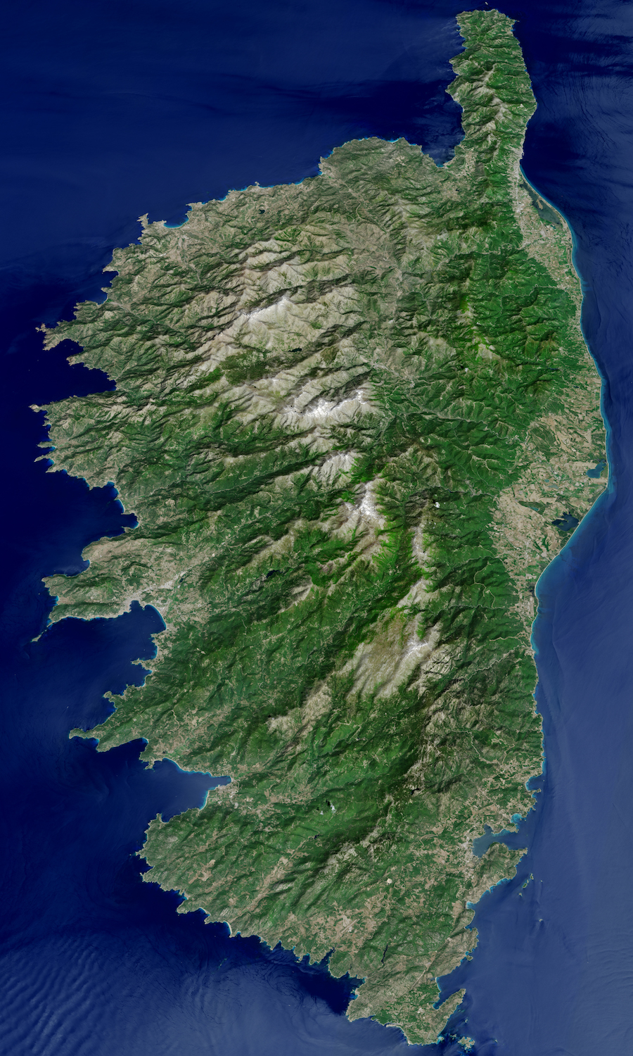 Today's Image of the Day comes courtesy of the NASA Earth Observatory and features a look at the island of Corsica in the Mediterranean Sea.