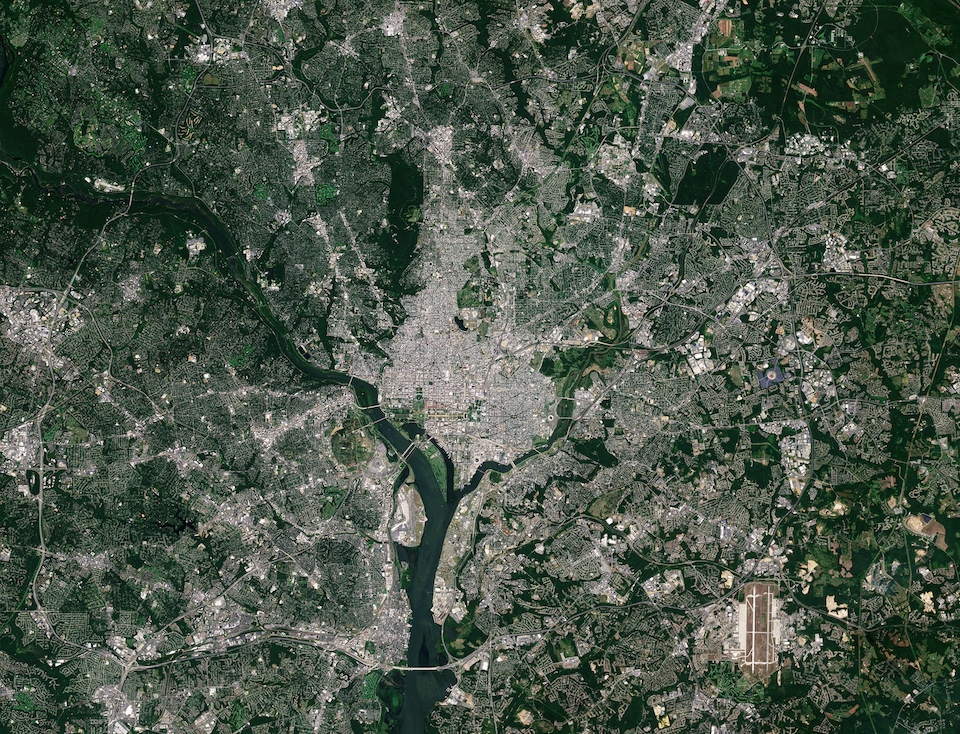 Today's Image of the Day comes courtesy of the European Space Agency (ESA) and features a look at Washington, D.C. from space.