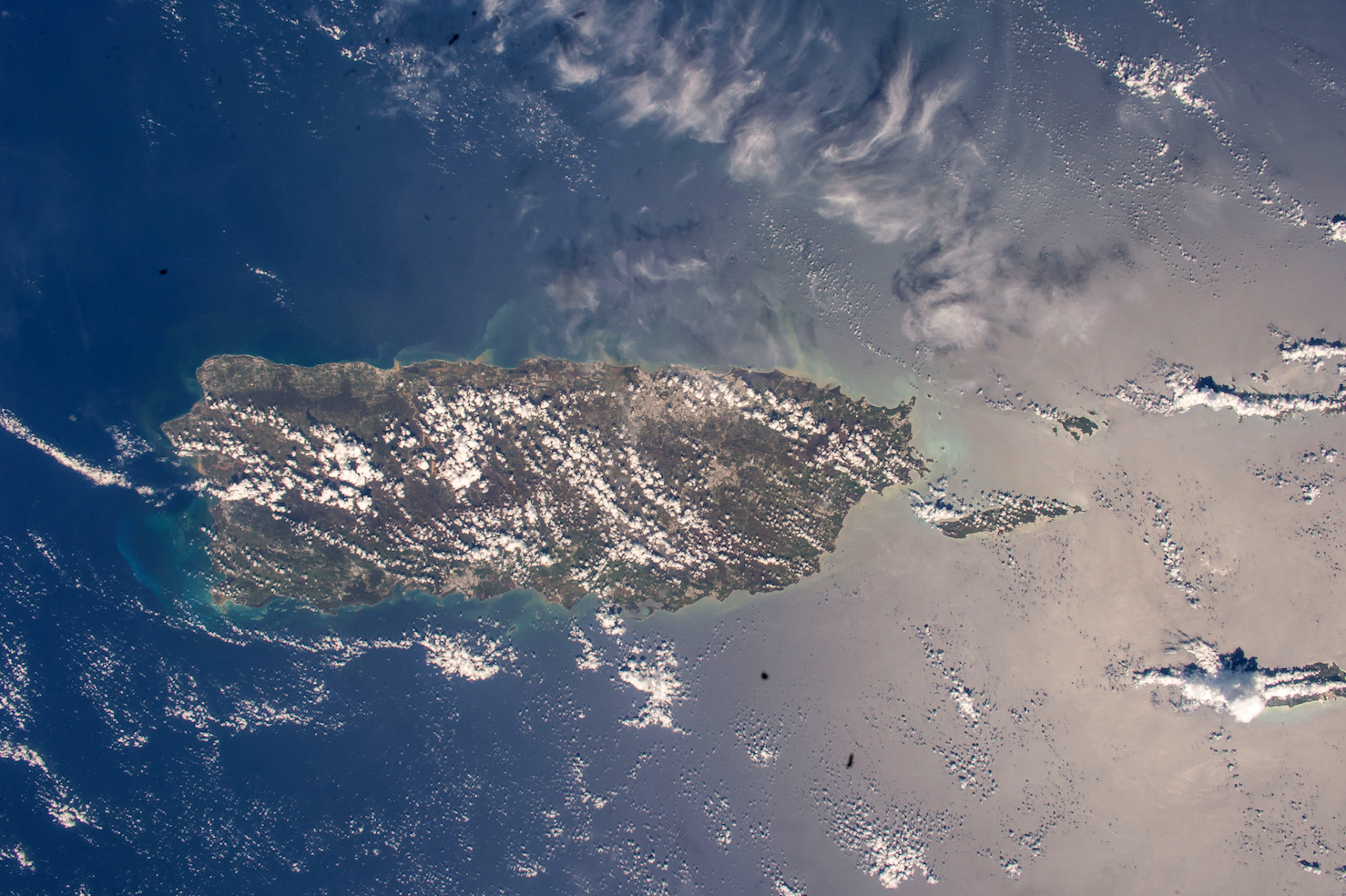 Today's Image of the Day comes courtesy of the NASA Earth Observatory and features a look at Puerto Rico from the International Space Station.