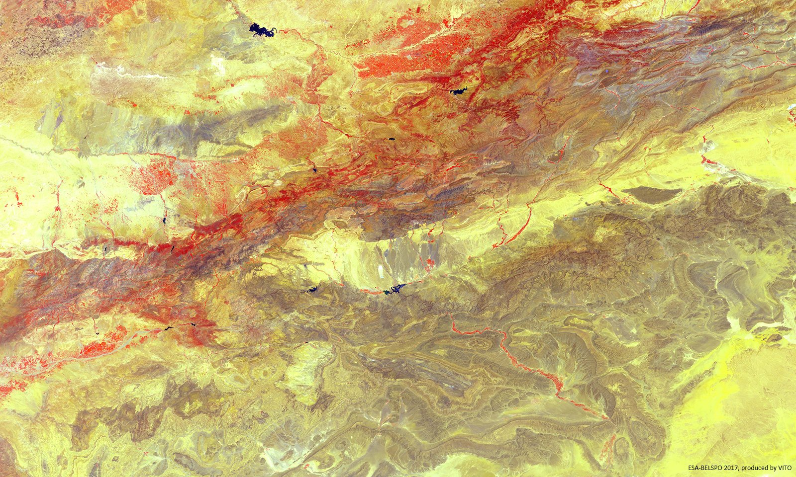 Today's Image of the Day comes courtesy of the European Space Agency (ESA) and features a look at North Africa's High Atlas mountain range.