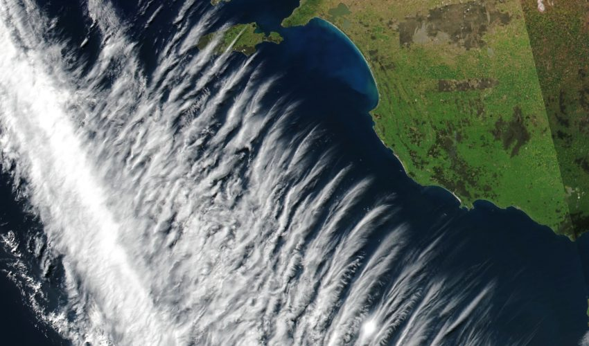 Today's Image of the Day comes courtesy of the NASA Earth Observatory and features a look at cloud formations off the coast of southern Australia.
