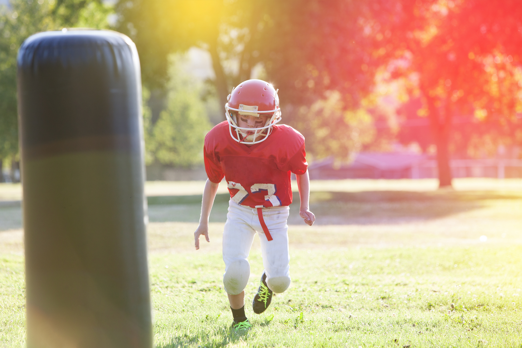 New research reveals that young football players with a history of concussion impacts experience brain changes after one season of play.