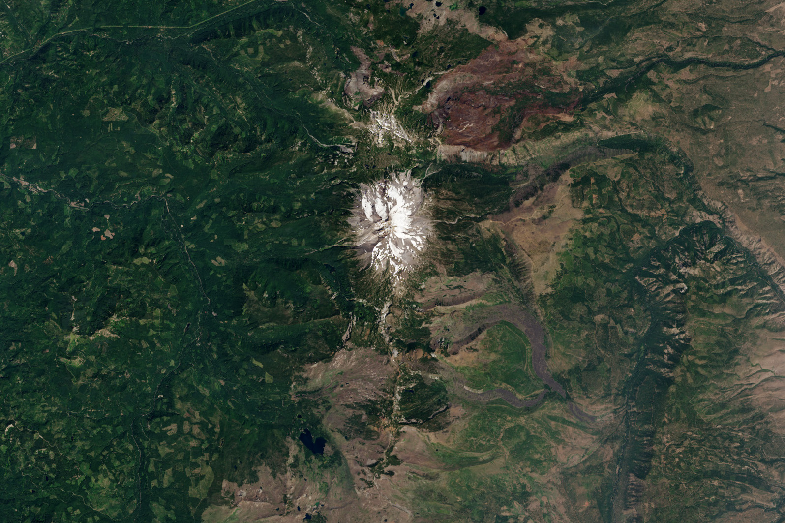 Today's Image of the Day comes courtesy of the NASA Earth Observatory and features a look at Mount Jefferson, part of the Cascade Range in Oregon.