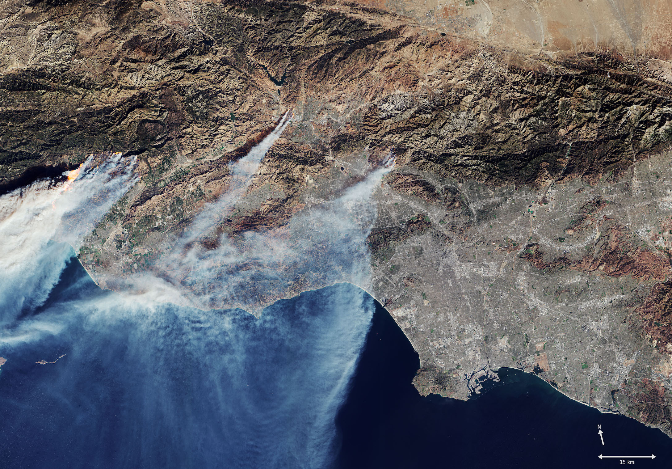 Today's Image of the Day comes from the European Space Agency and features a look at the devastating wildfires burning in southern California this week.