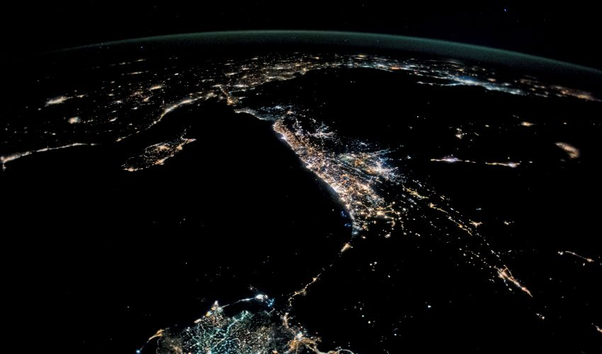 Today's Image of the Day comes from the NASA Earth Observatory and features a look at the cities of Beirut, Tel Aviv, and Amman at night.