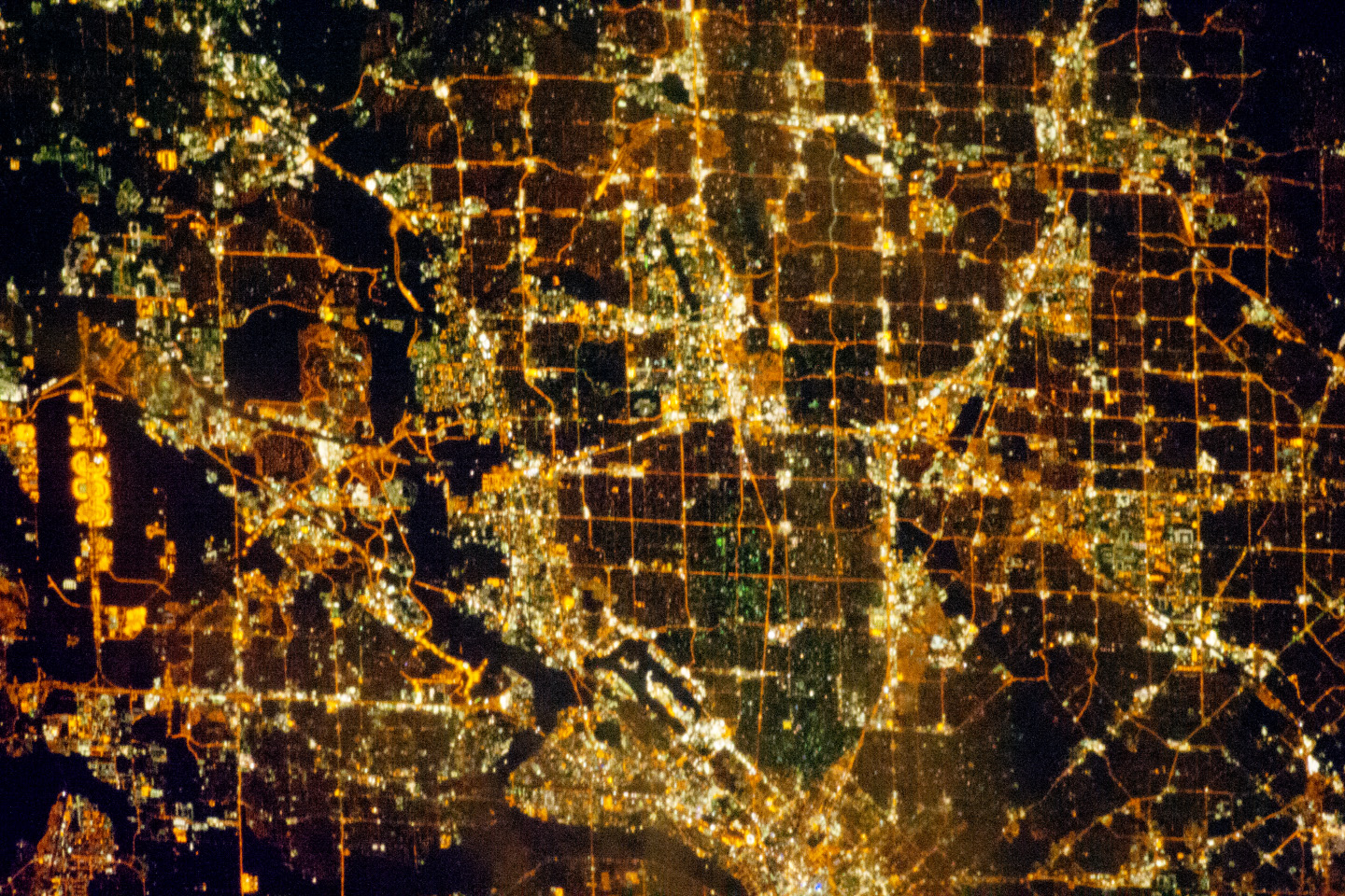 Today's Image of the Day comes from the NASA Earth Observatory and features a look at the city of Dallas, Texas at night.