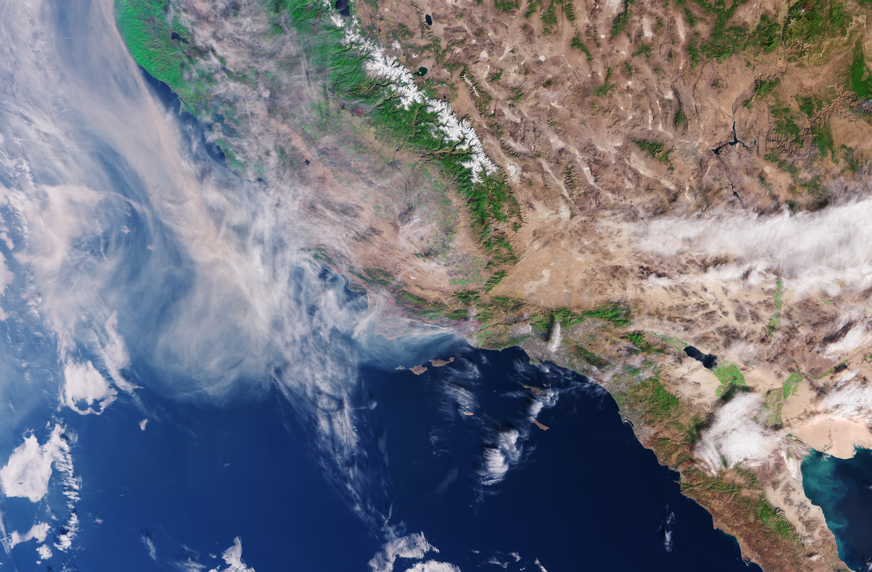 Today's Image of the Day comes from the European Space Agency (ESA) and features a look at smoke off the coast of California as wildfires continue to burn.