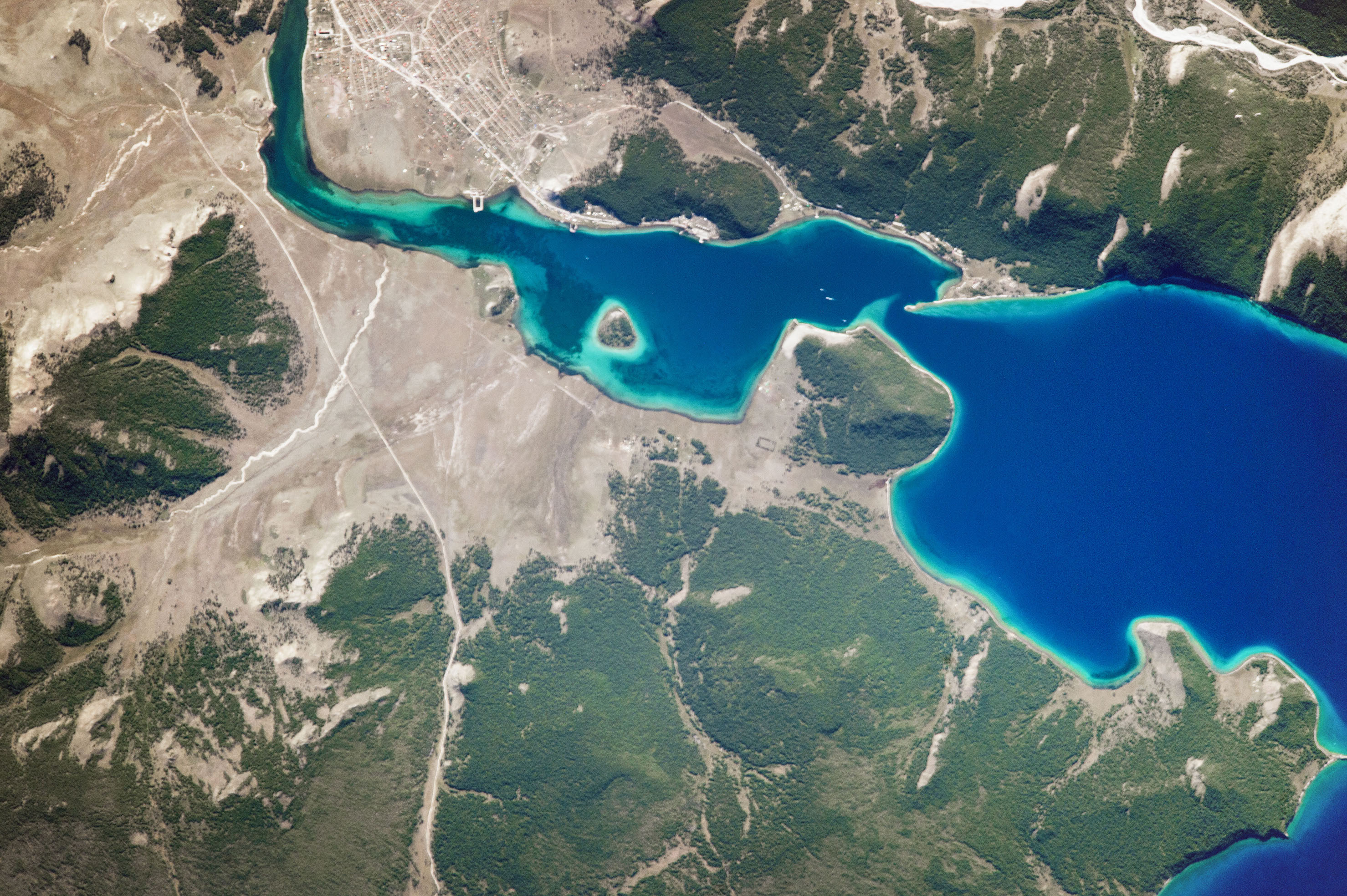 Today's Image of the Day comes from the NASA Earth Observatory and features a look at Lake Khuvsgul in north central Mongolia.