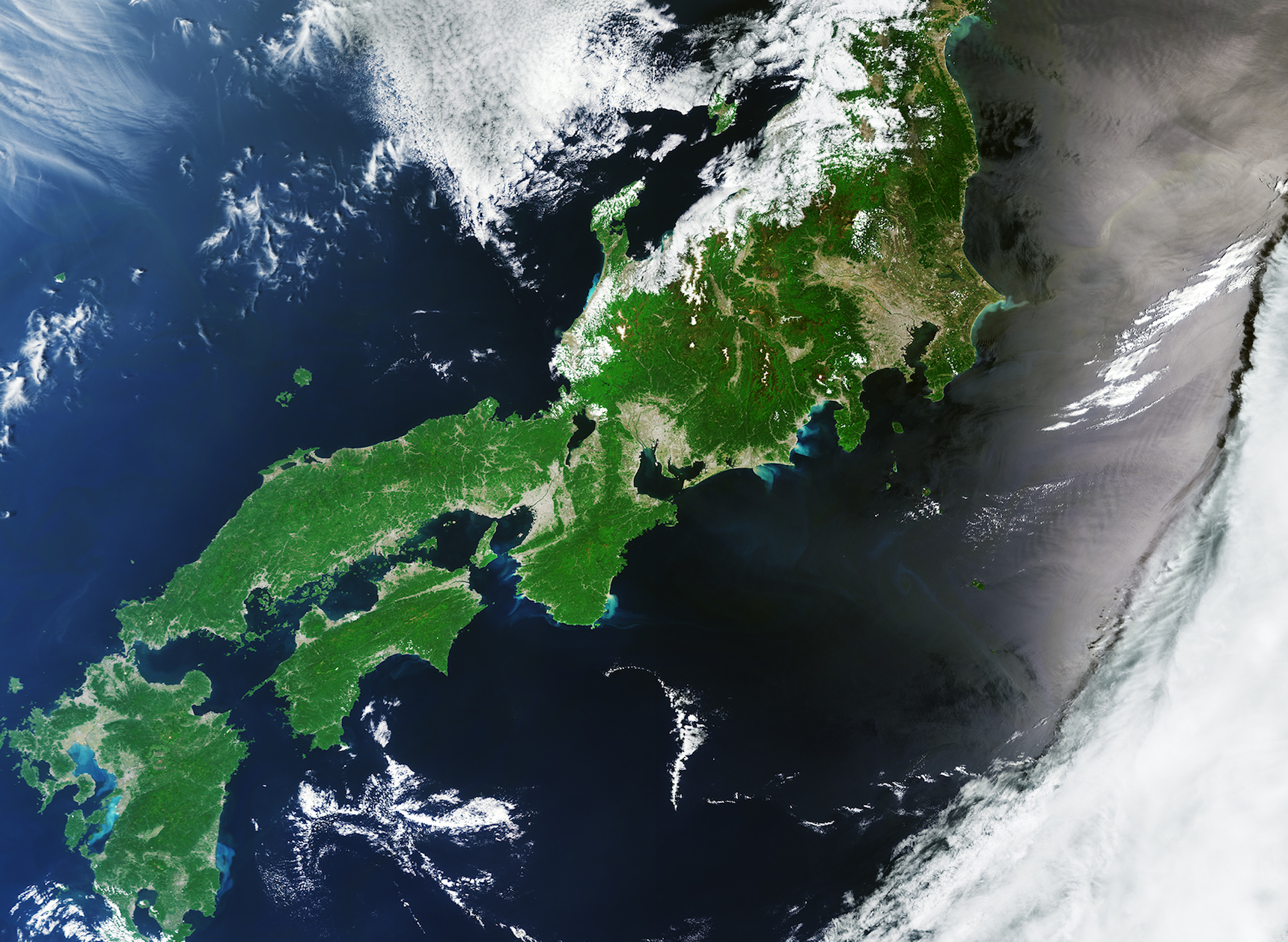 Today's Image of the Day comes from the European Space Agency (ESA) and features a look at Japan and the surrounding Pacific Ocean waters.