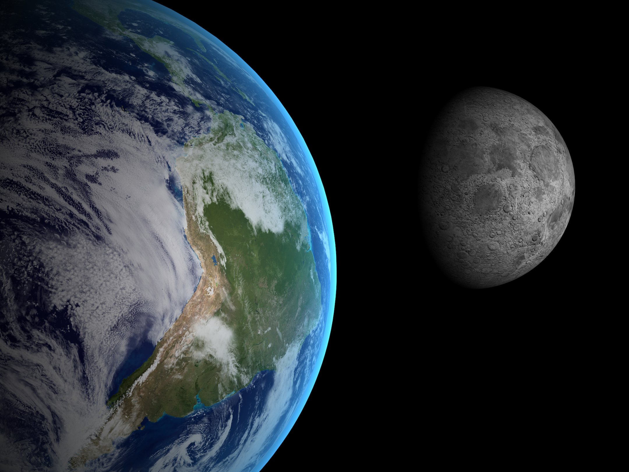 The moon was created by a giant protoplanet called Theia smashing into the Earth and creating debris that orbited the planet