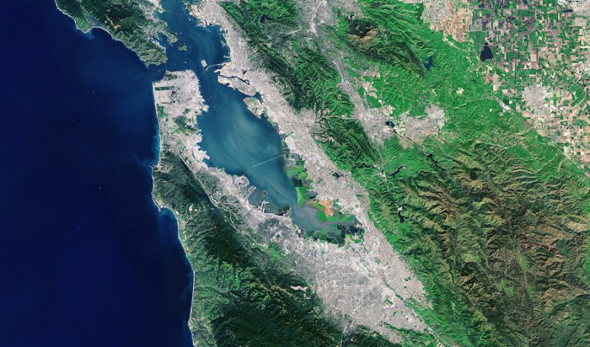Today's Image of the Day comes from the NASA Earth Observatory and features a look at lush vegetation in the San Francisco Bay area.