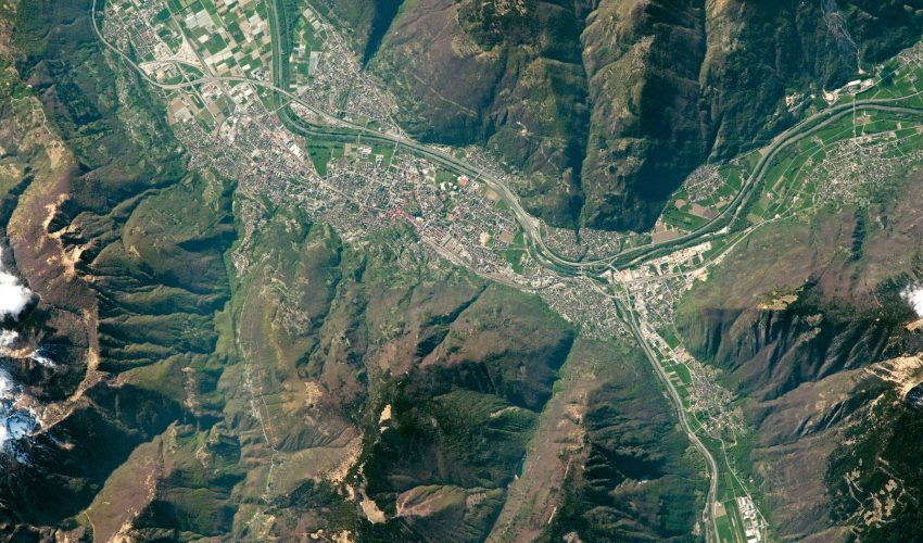 Today's Image of the Day comes from the NASA Earth Observatory and features a look at the city of Bellinzona, Switzerland and the Ticino River.