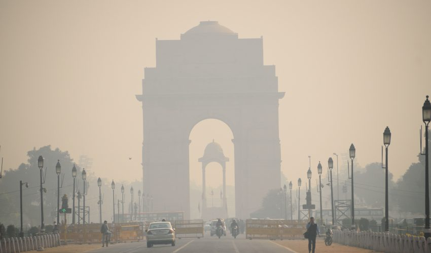 Hundreds of passengers were left stranded over the New Year's holiday in New Delhi, as thick fog descended upon the city.