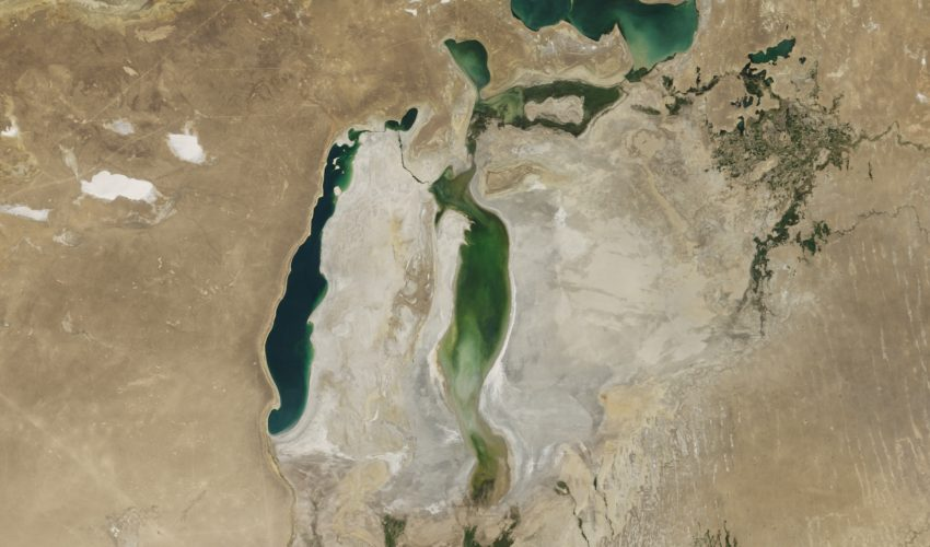 Today's Image of the Day comes from the NASA Earth Observatory and features a look at the Aral Sea, which sits between Kazakhstan and Uzbekistan.