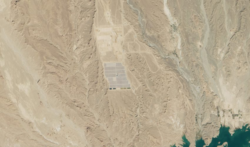 Today's Image of the Day comes from the NASA Earth Observatory and features a look at solar panels in the Sahara Desert in Morocco.