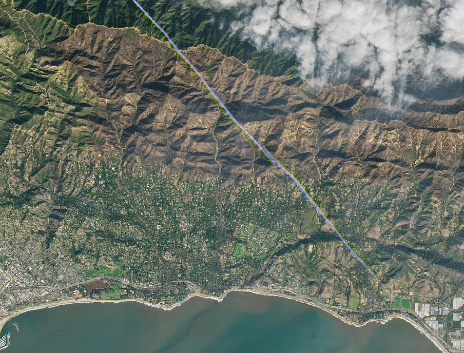 Today's Image of the Day comes from the NASA Earth Observatory and features a look at Montecito, California after this week's deadly floods and mudslides.