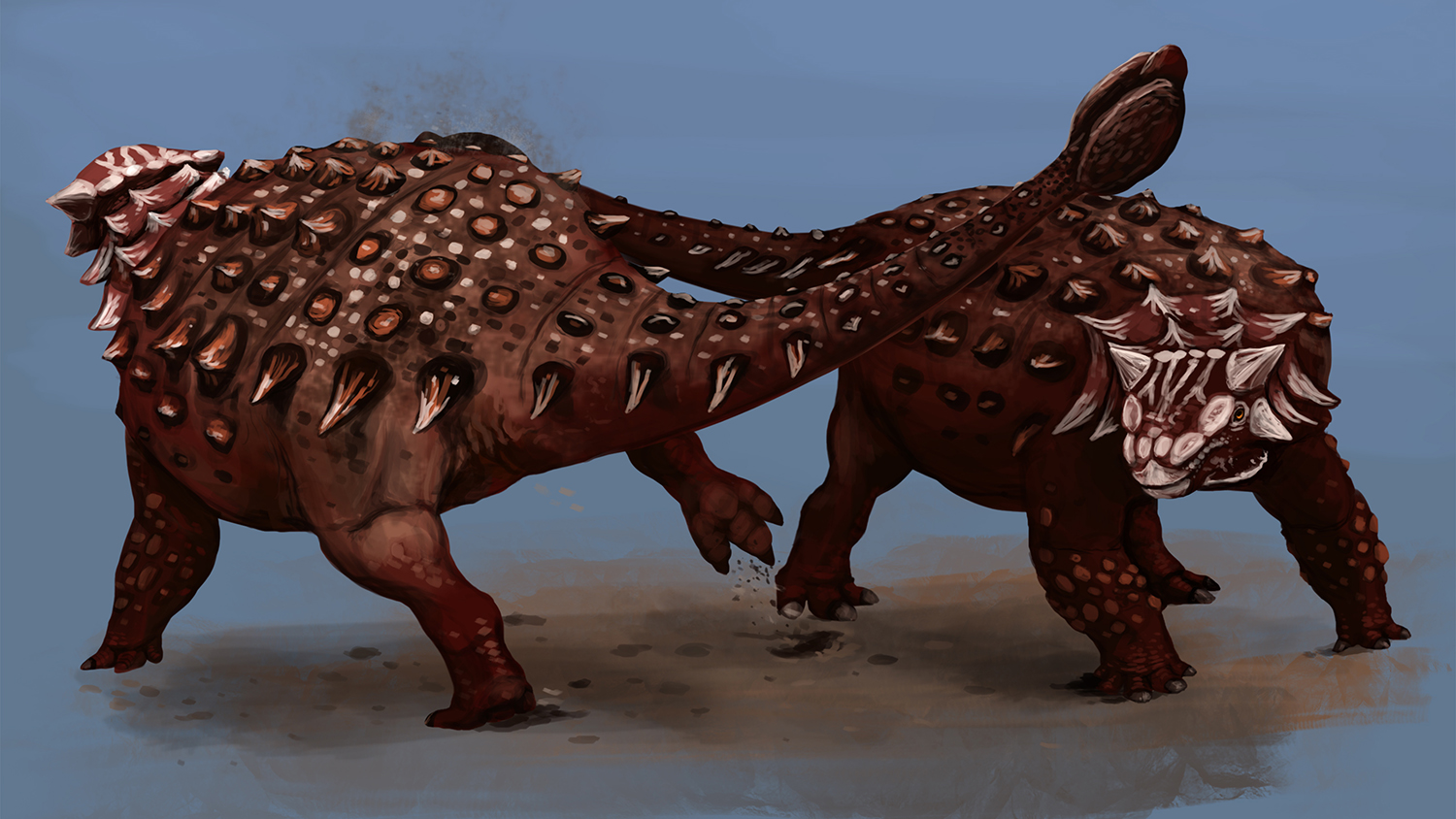 Clubs and spikes on armored tails and skin were useful for fending off predators, hunting for food, and defending nests and territory.