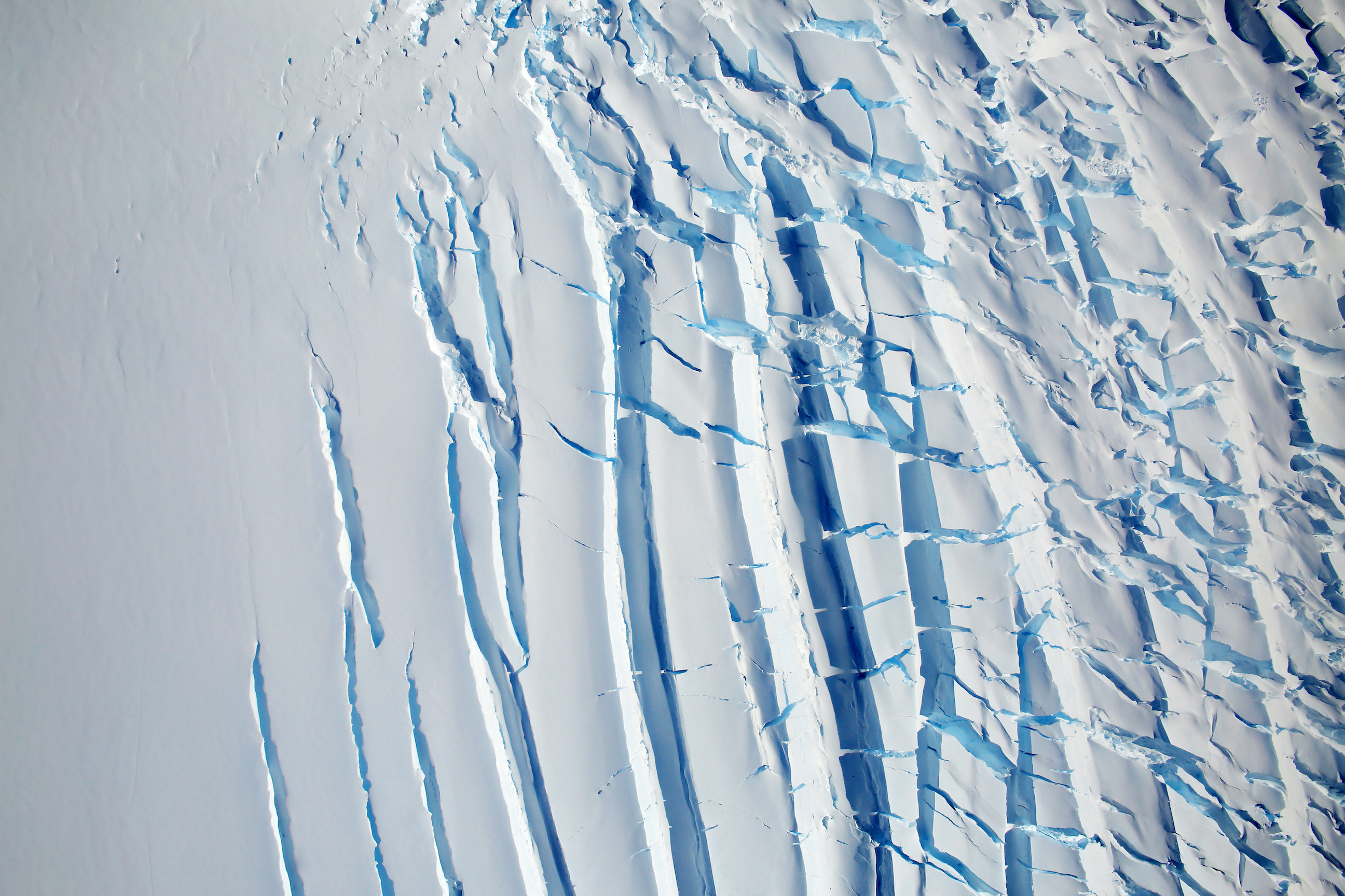 Today's Image of the Day comes from the NASA Earth Observatory and features a look at a heavily-crevassed glacier on the southern Antarctic Peninsula.
