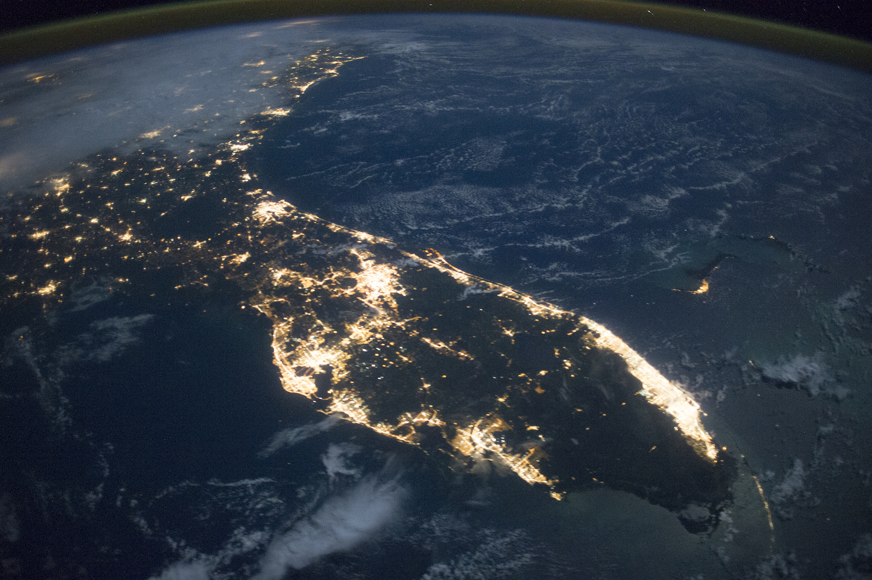 Today's Image of the Day comes from the NASA Earth Observatory and features a look at the state of Florida as seen from space at night.
