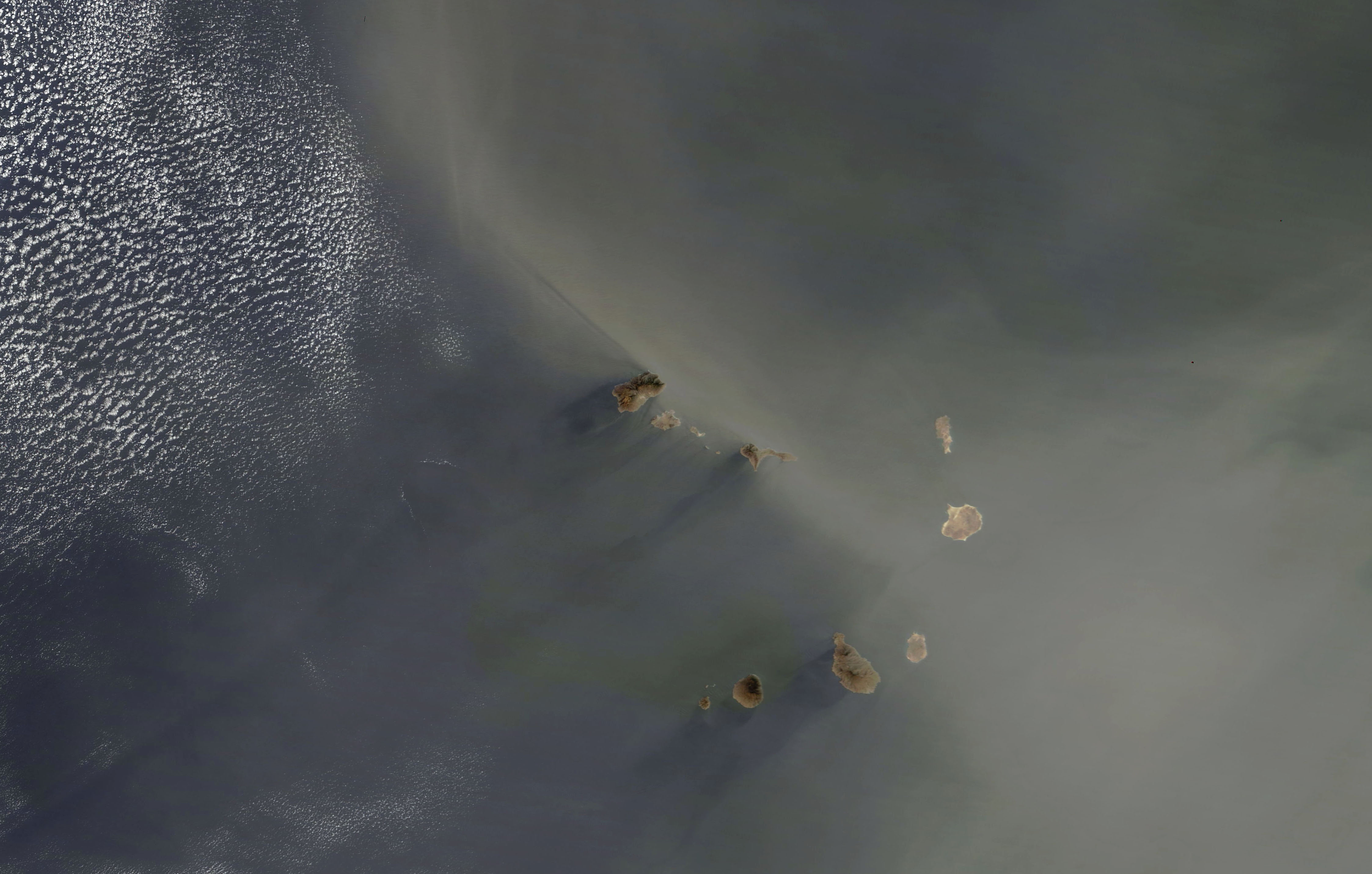 Today's Image of the Day comes from the NASA Earth Observatory and features a look at dust and sand in the air over the Cape Verde Islands.