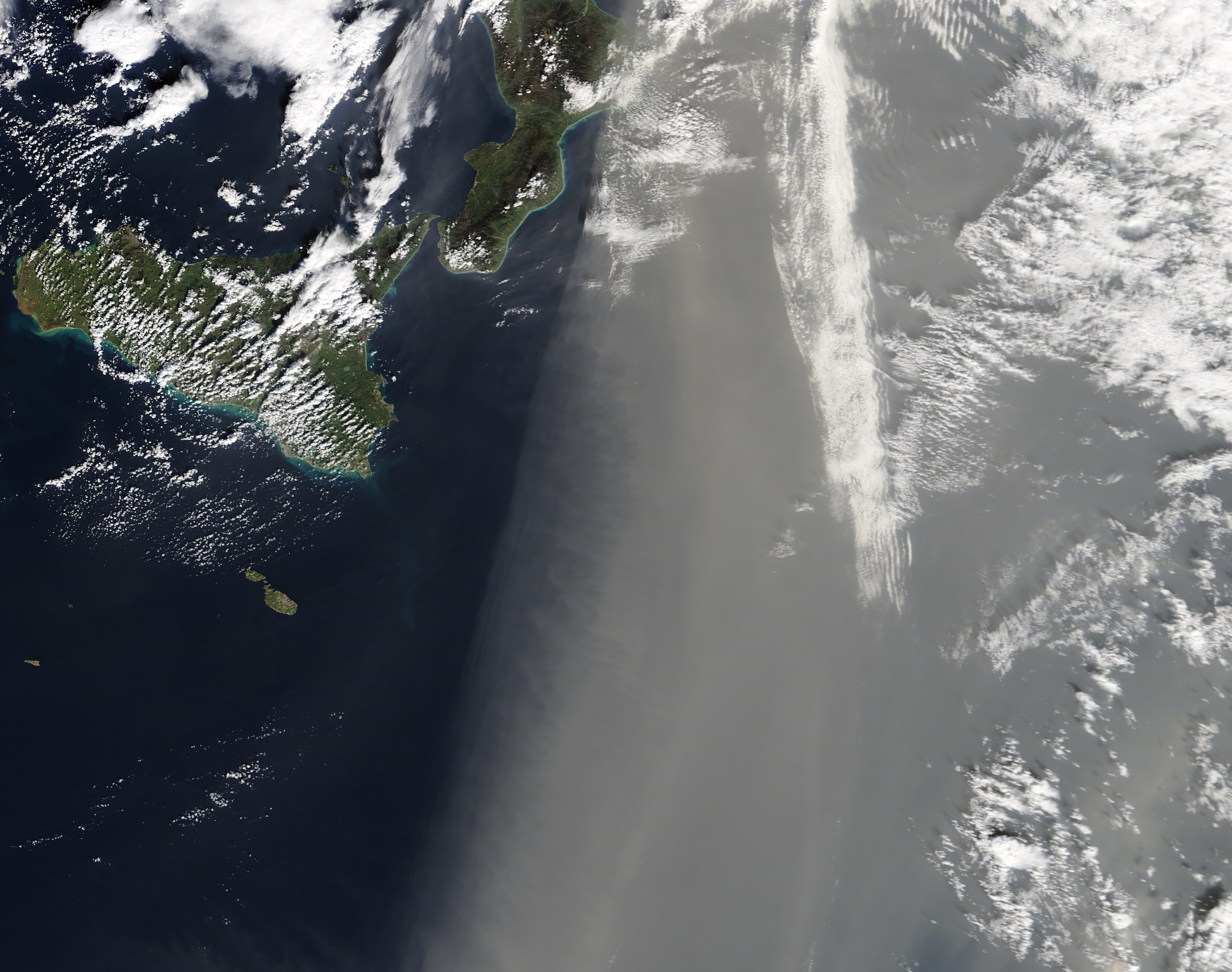 Today's Image of the Day comes from the NASA Earth Observatory and features a look at a dust storm over the Mediterranean Sea.