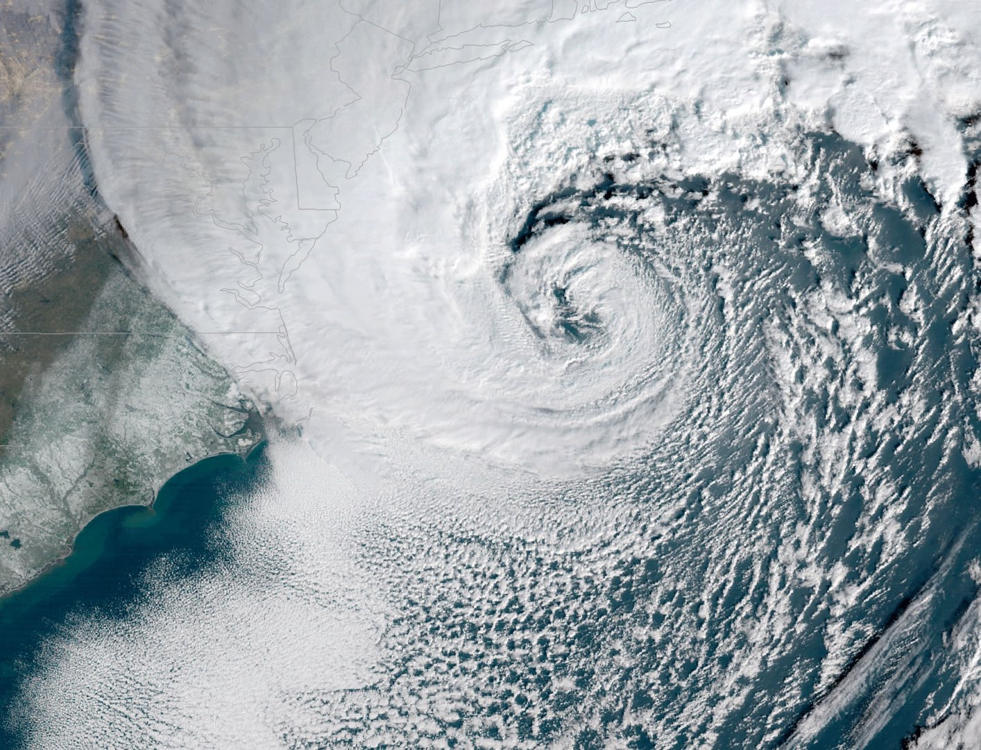 Most of the large storm surges in the northeastern United States are not caused by hurricanes, but by extratropical cyclones.