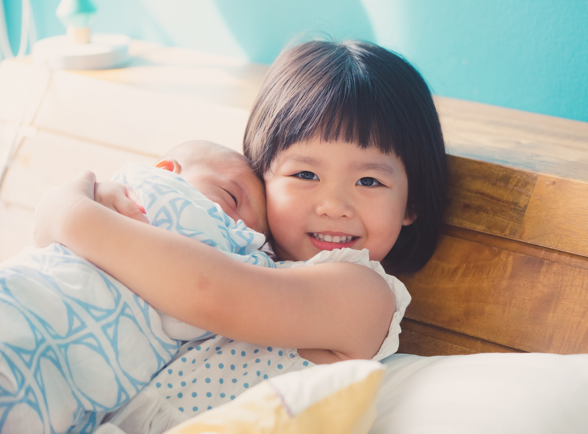 A new study has found that younger siblings can also make a positive contribution as their older brothers and sisters develop empathy.